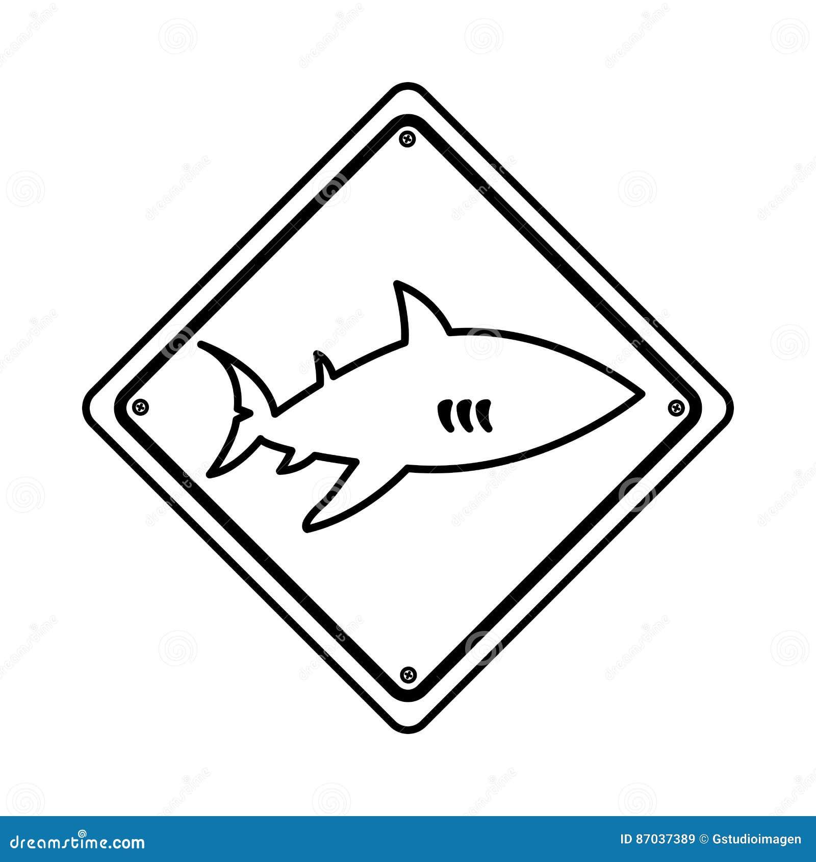 鲨鱼剪影戒备象