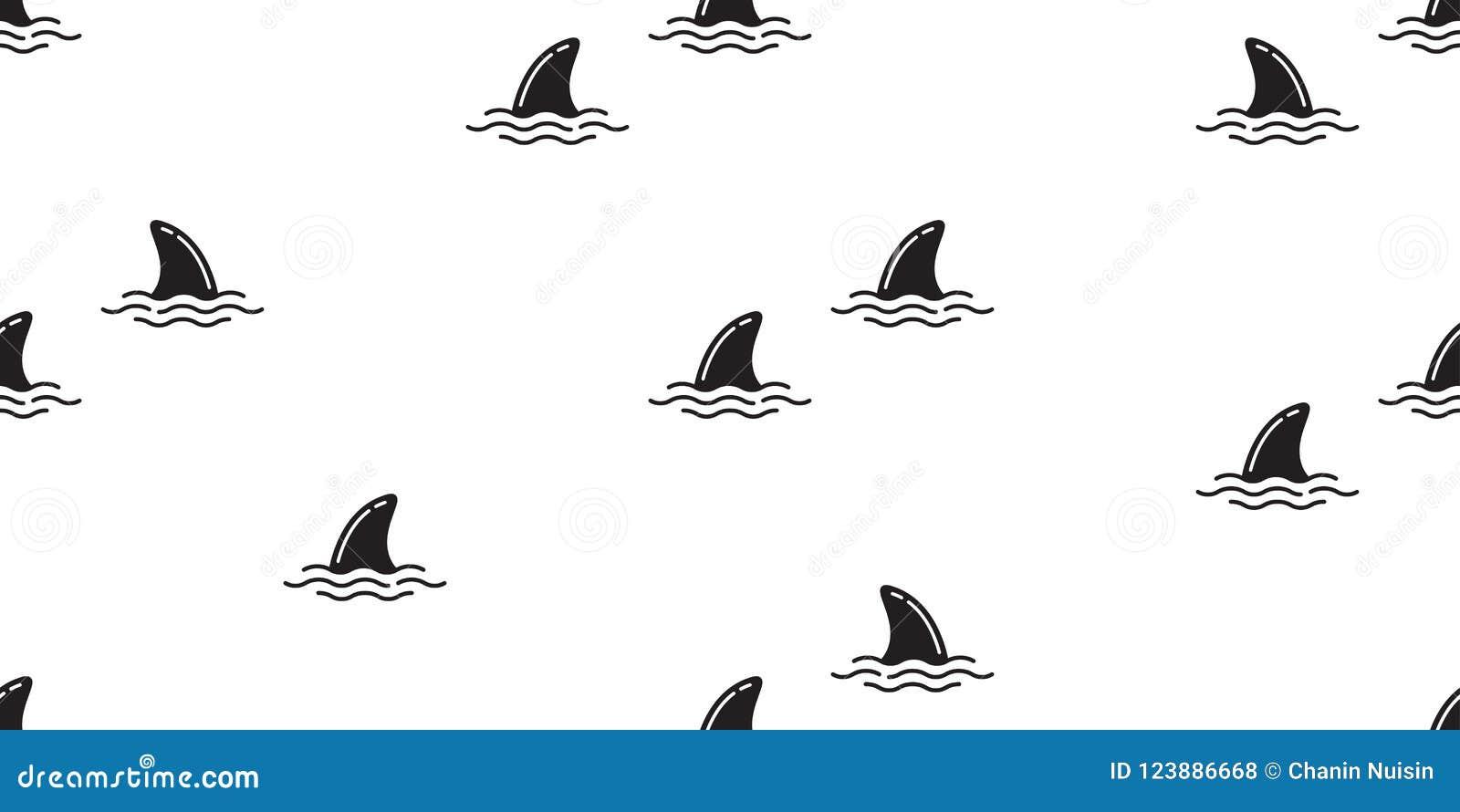 鲨鱼飞翅无缝的样式海豚隔绝了鲸鱼海浪海海岛海滩墙纸背景