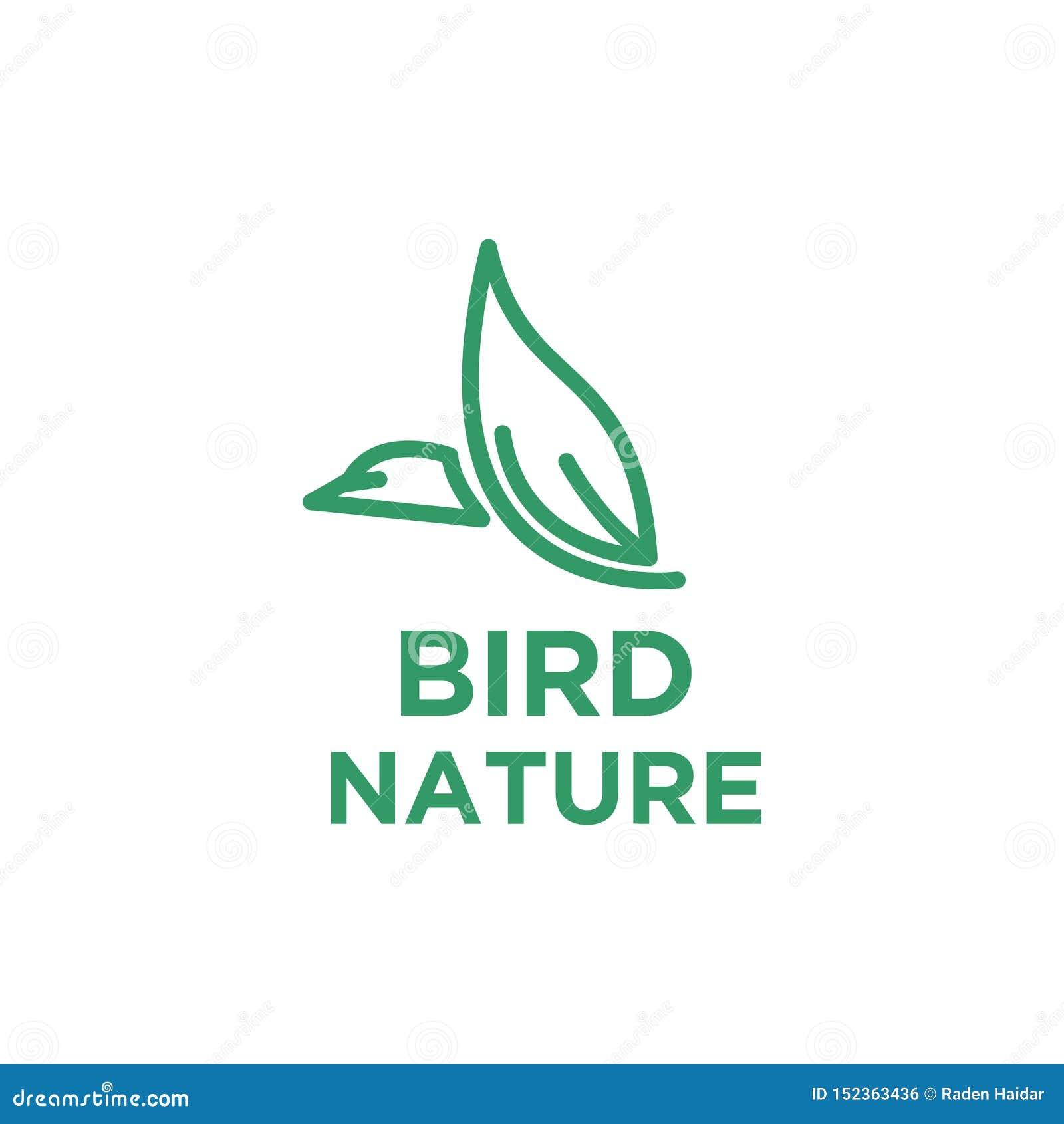鸟与叶子的商标设计