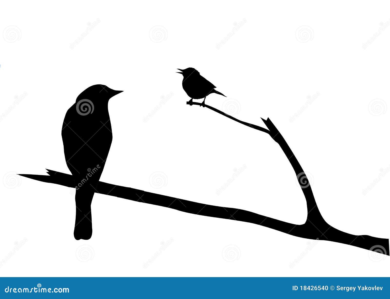鸟剪影向量