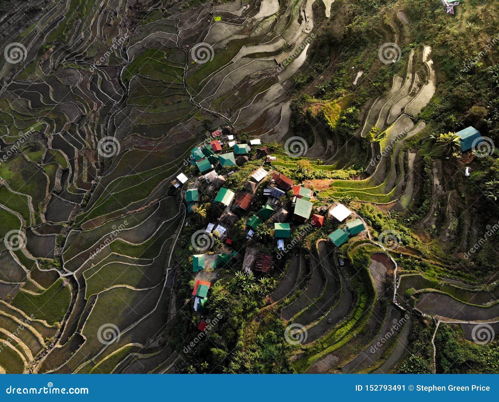 鸟瞰图- Batad米大阳台-菲律宾