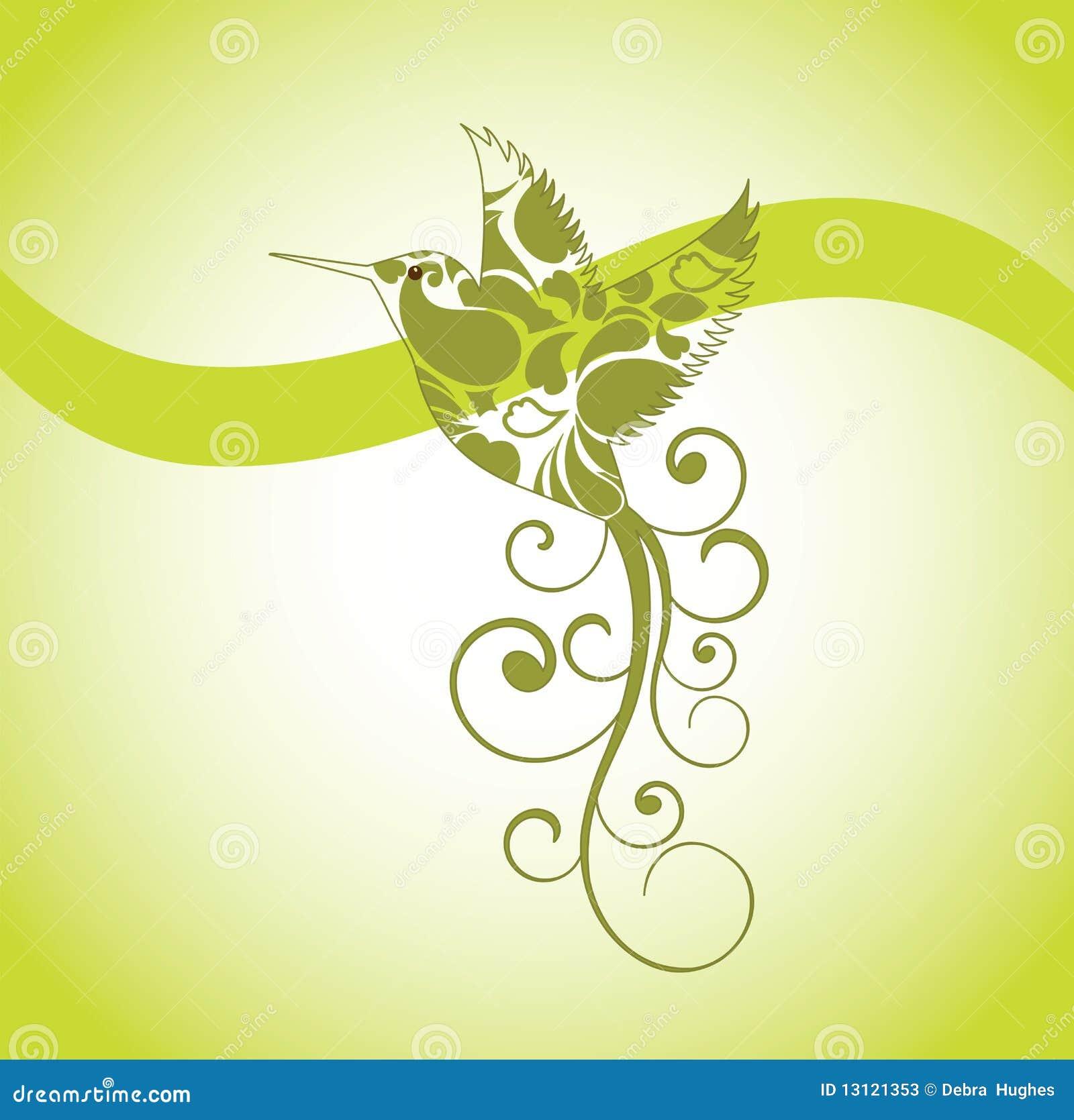 鸟装饰哼唱着