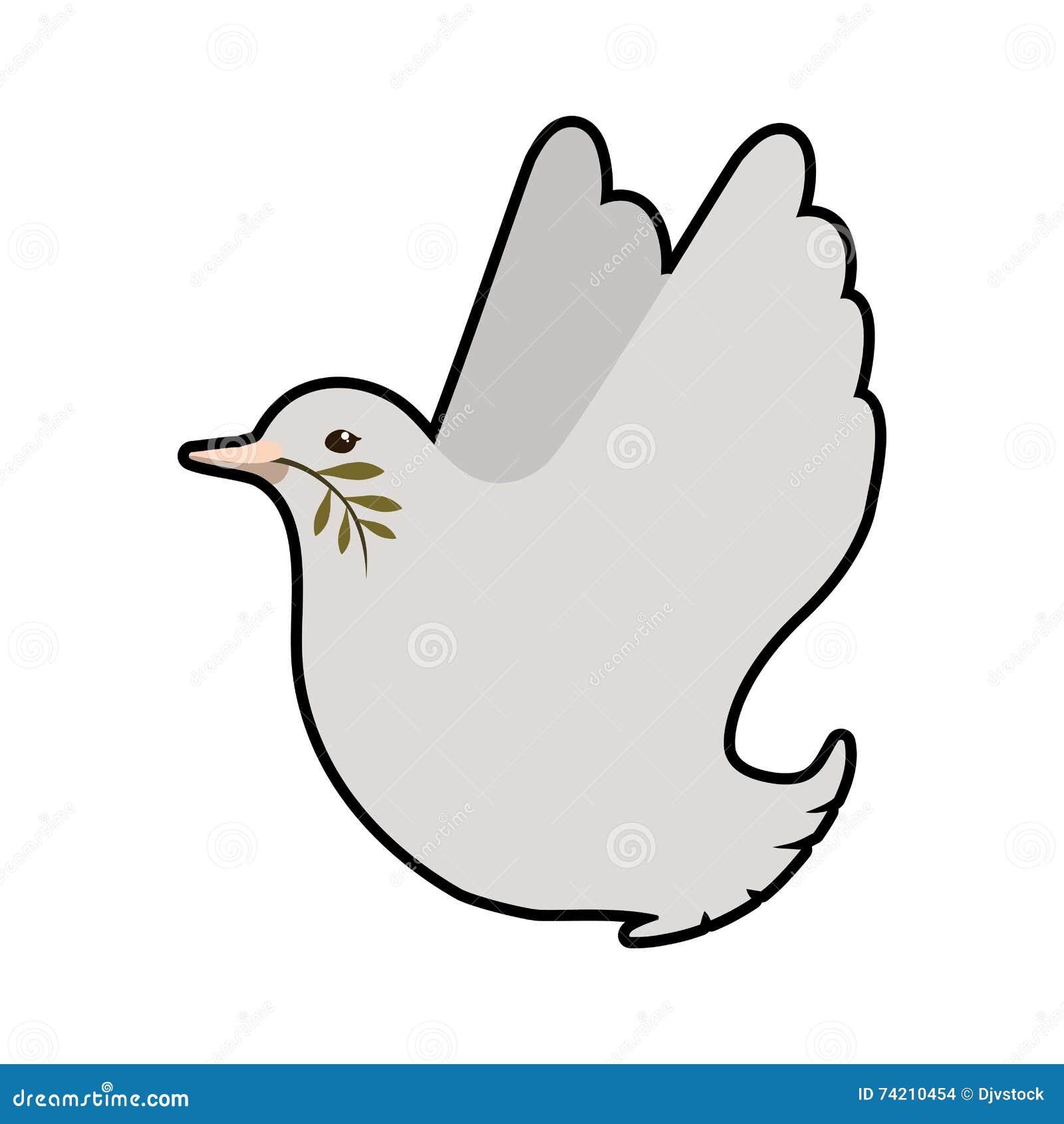 鸠象 鸟和和平设计 背景装饰图象风格化漩涡向量挥动