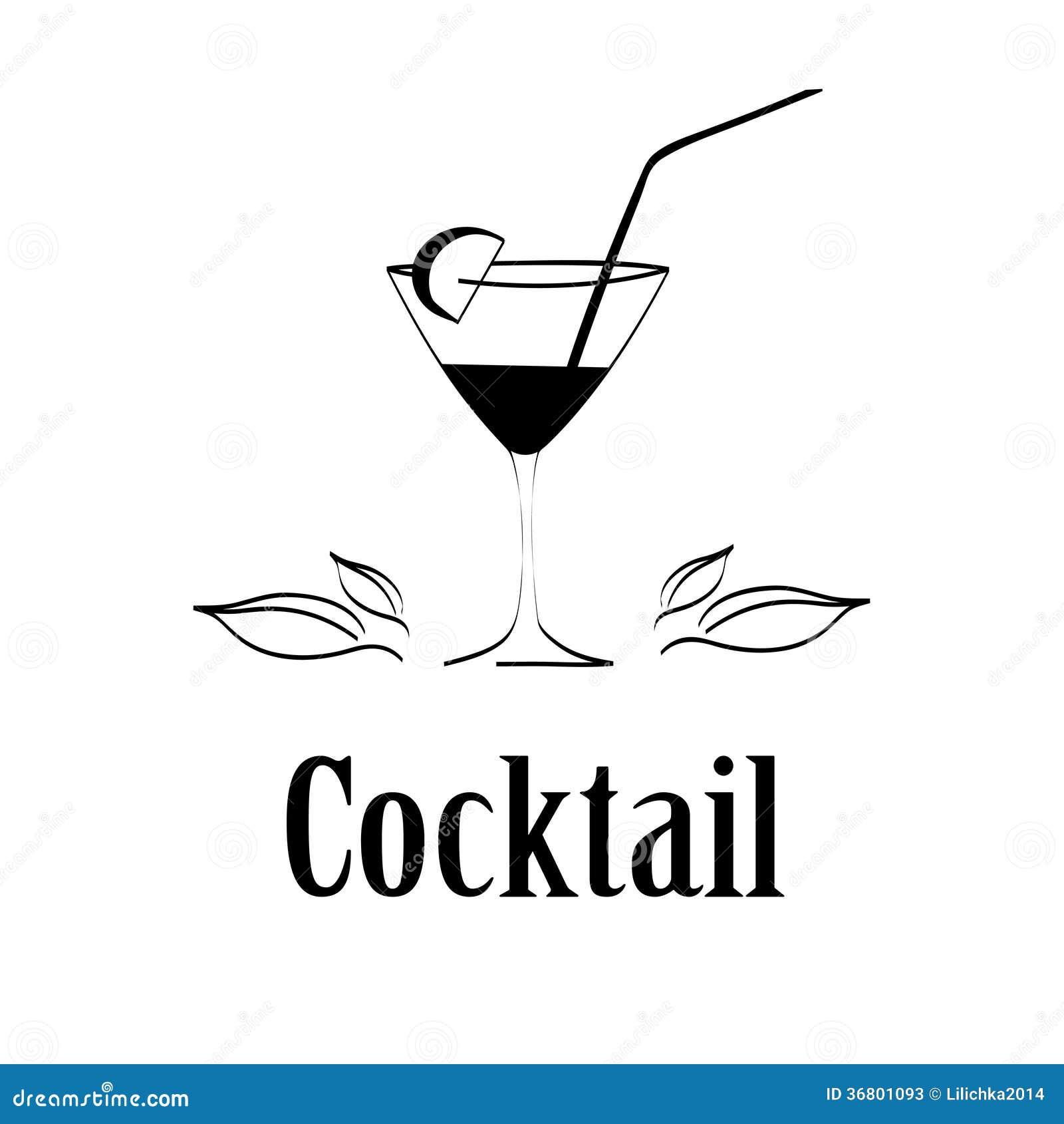 鸡尾酒杯设计菜单背景