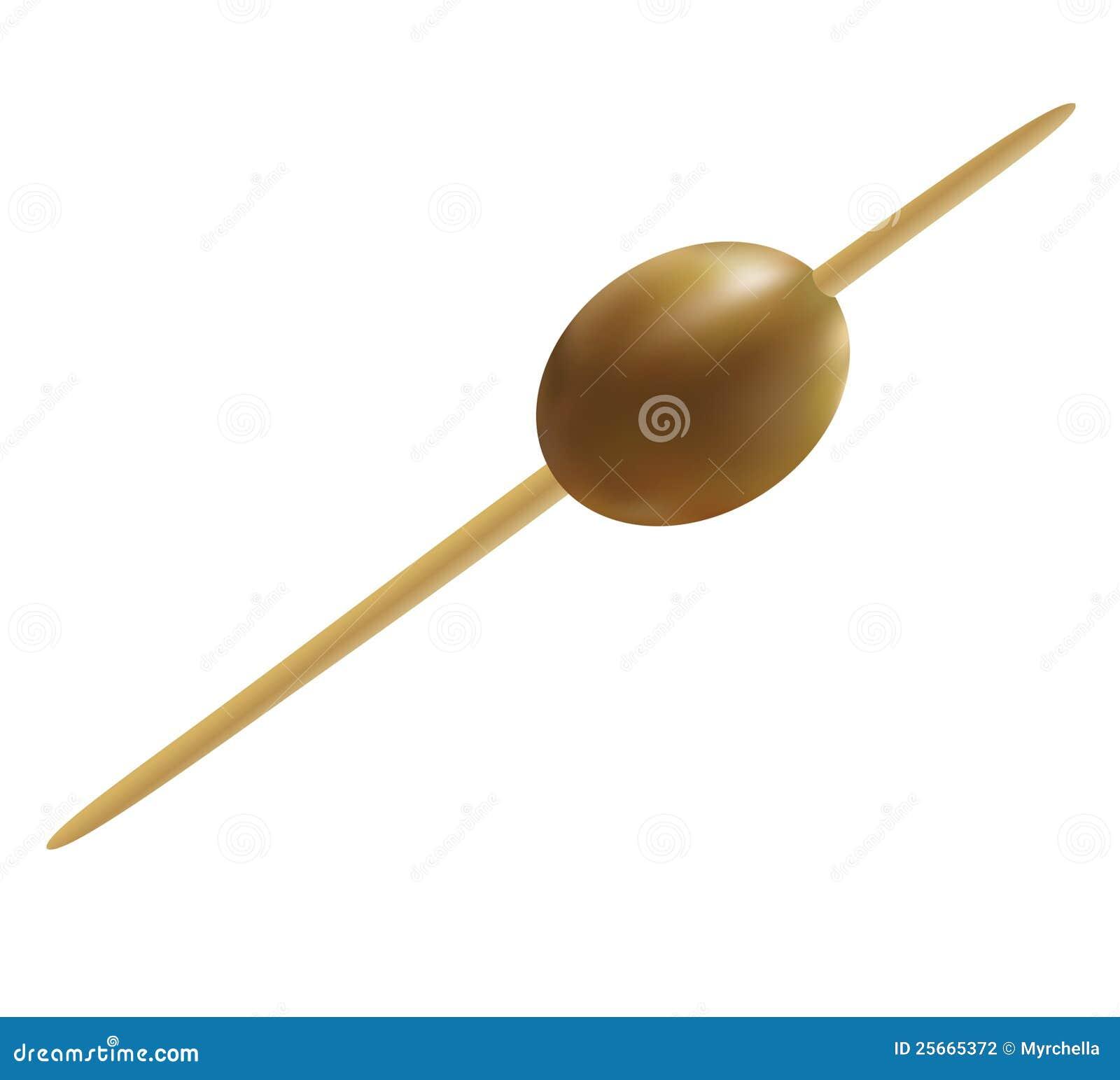 鸡尾酒橄榄固定的串