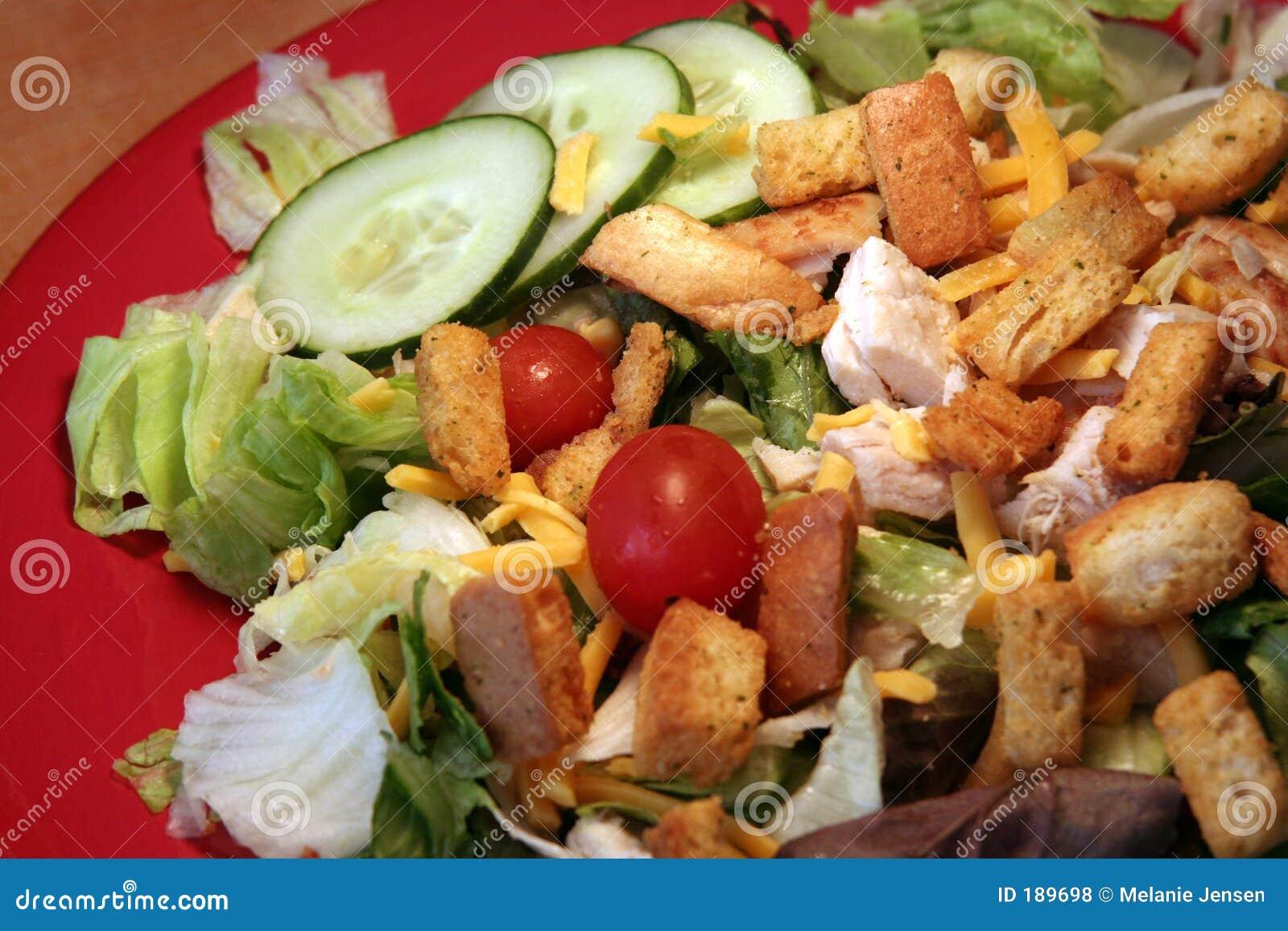 鸡烤了沙拉