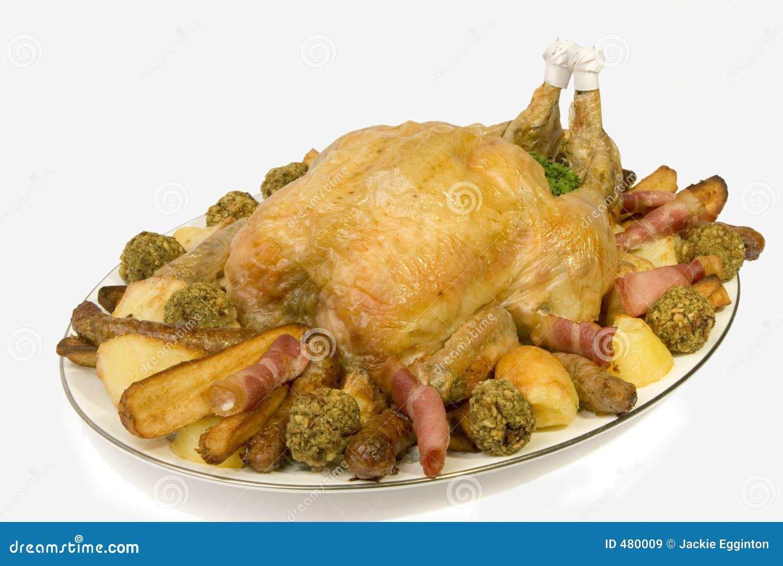 鸡盛肉盘烘烤
