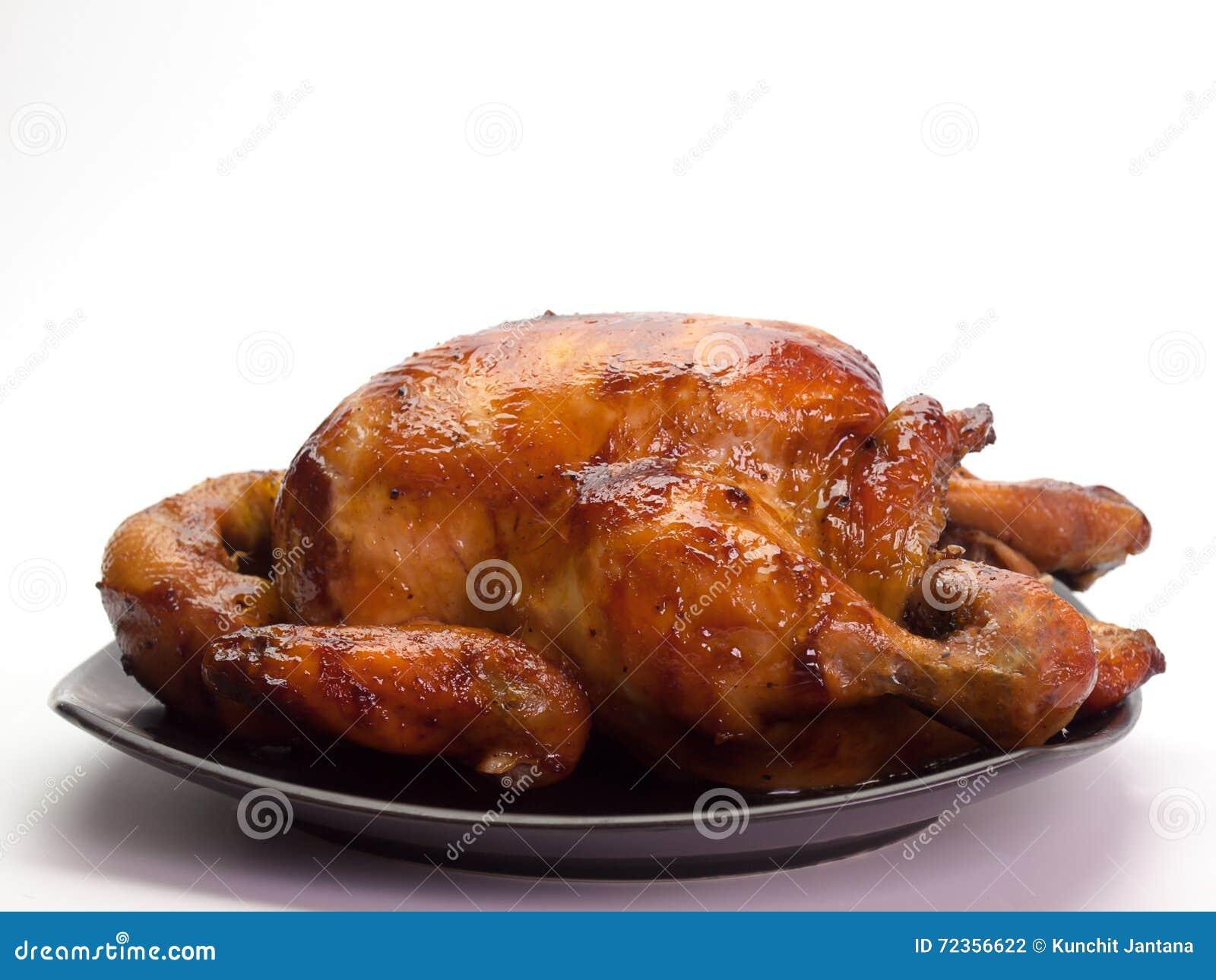 鸡给上釉的蜂蜜