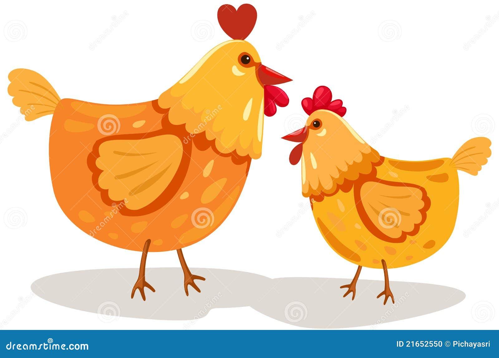 黄色片色鸡鸡_背景动画片鸡例证查出的白色.