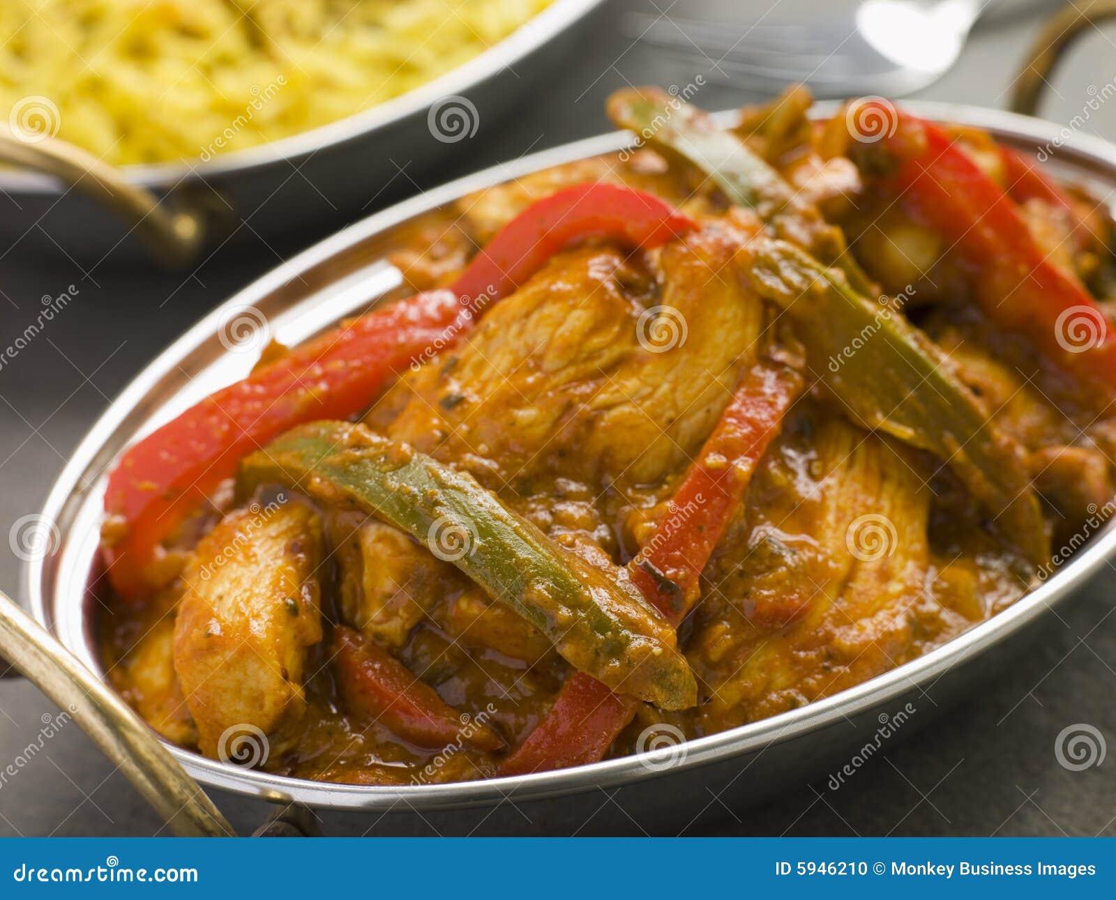 鸡jalfrezi餐馆样式