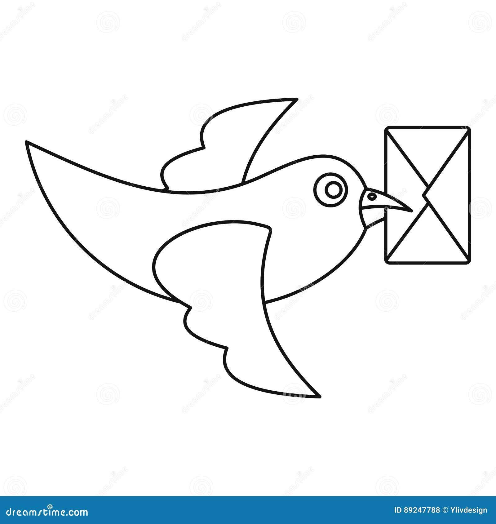 鸽子与信封象的鸟飞行图片