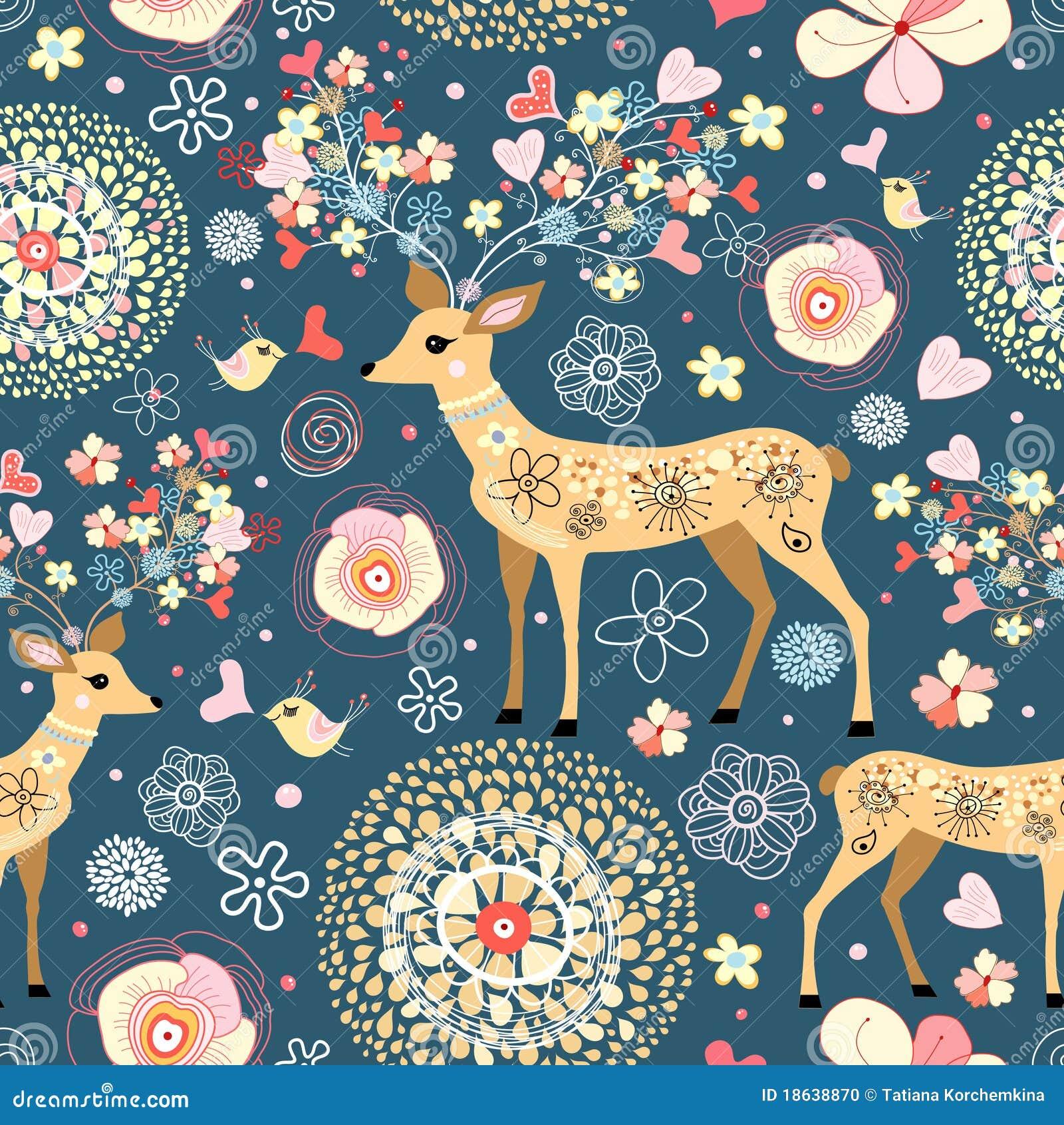 鹿美妙的花纹理