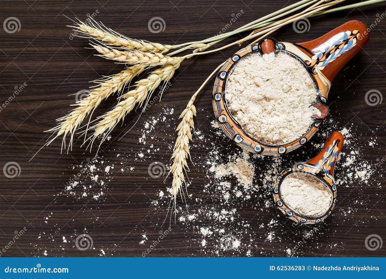 麦子和全麦面粉钉