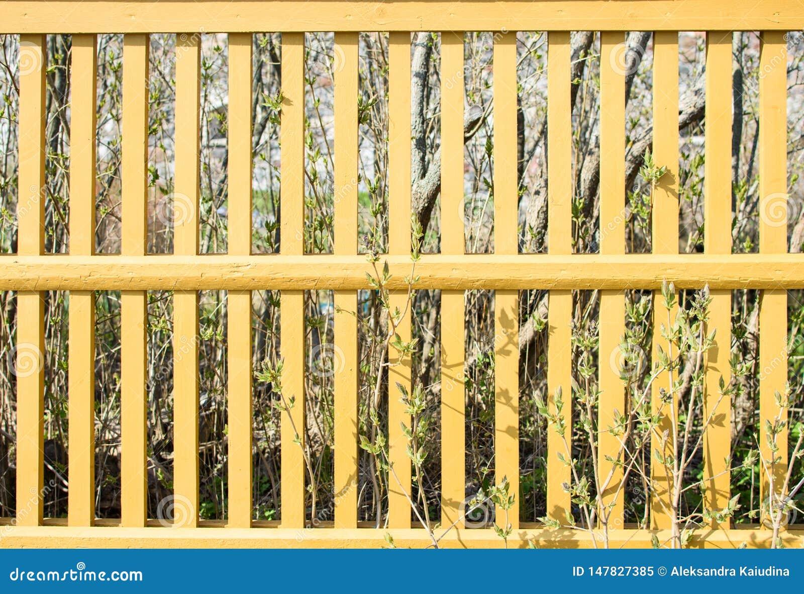 黄色尖桩篱栅