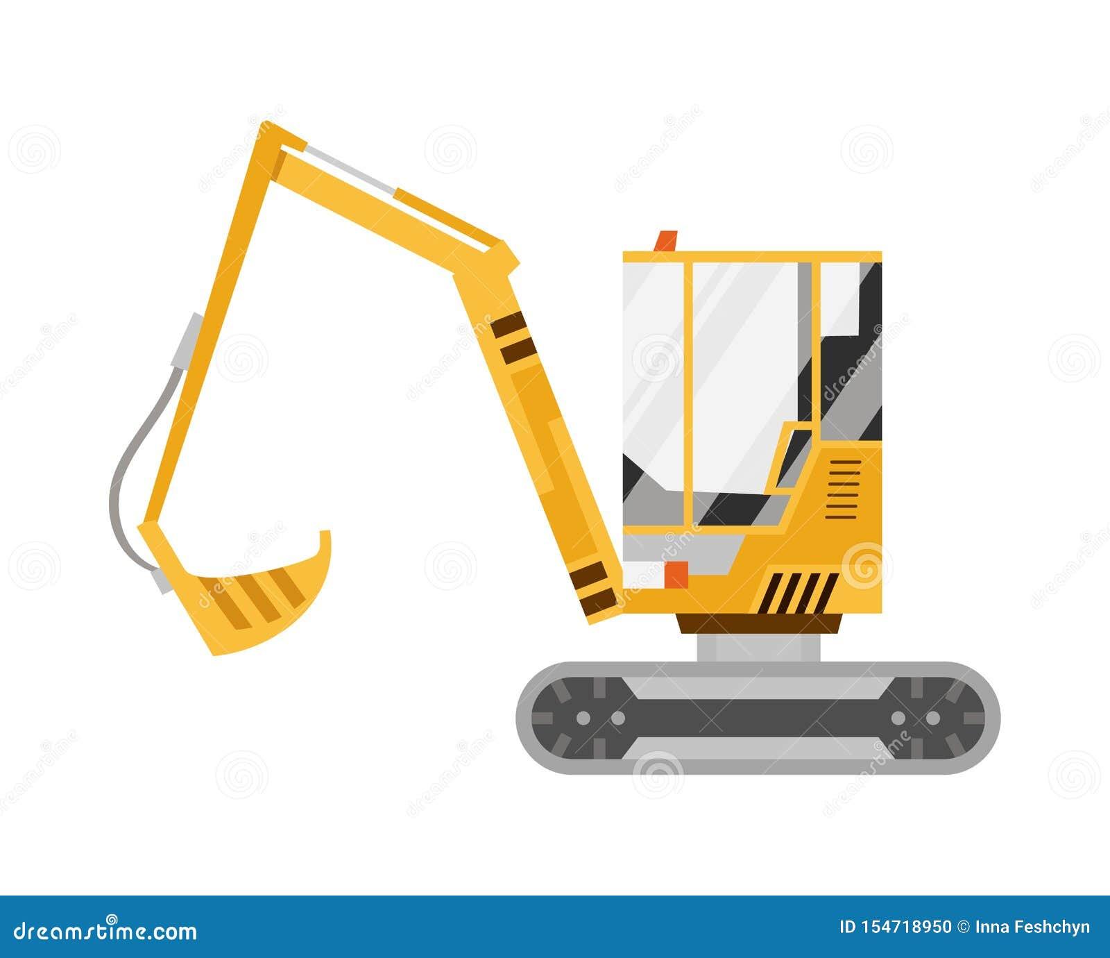黄色挖掘机 r 特别设备 建筑机械 r