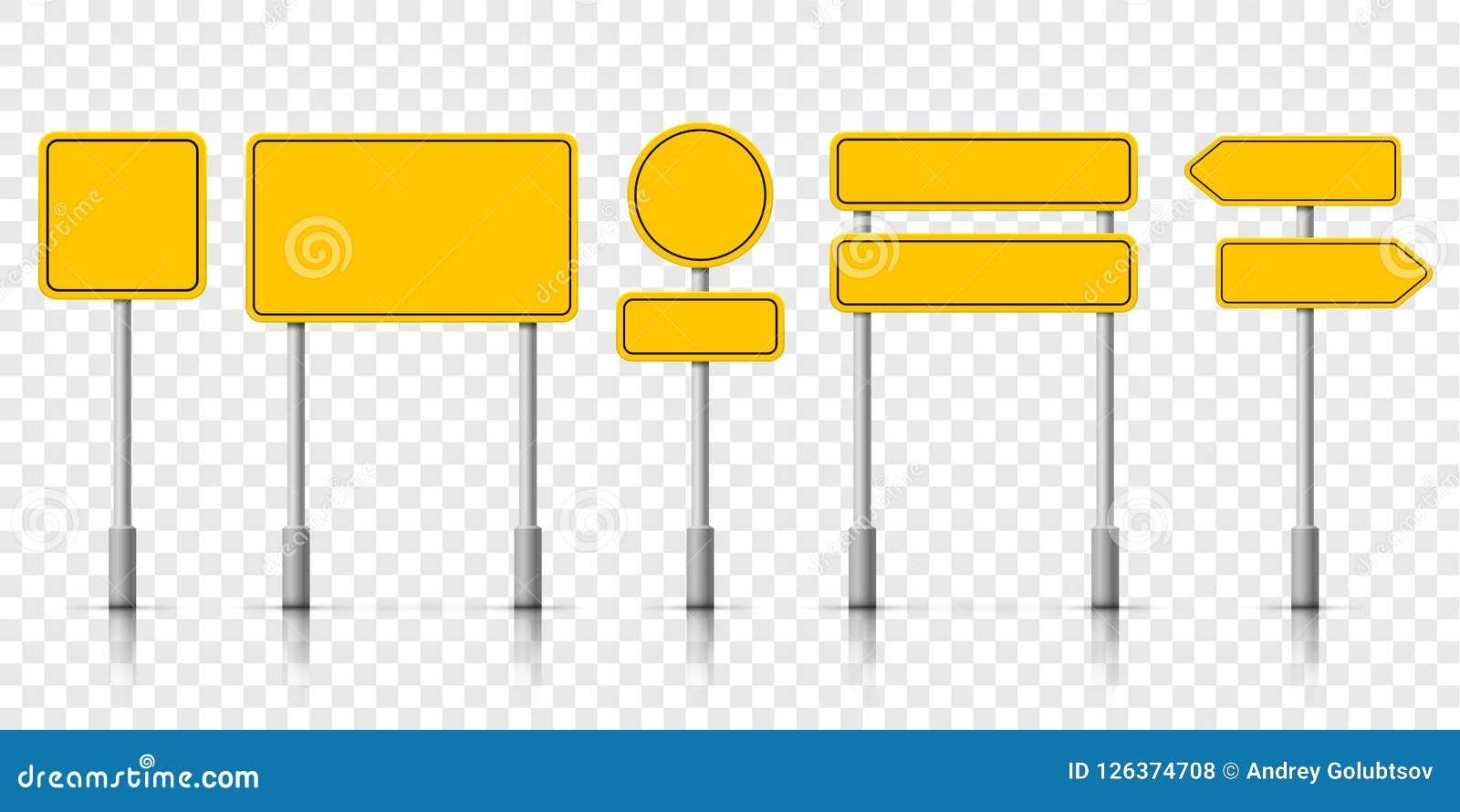 黄色街道路标板 传染媒介roadsign警报通知
