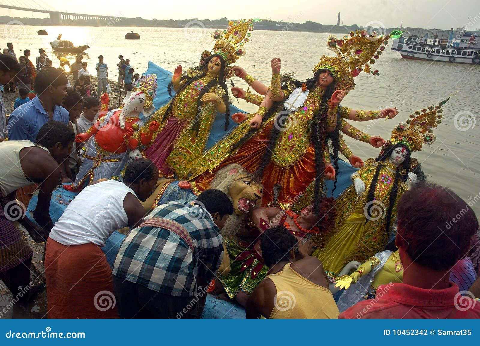 黏土durga节日神象印度s