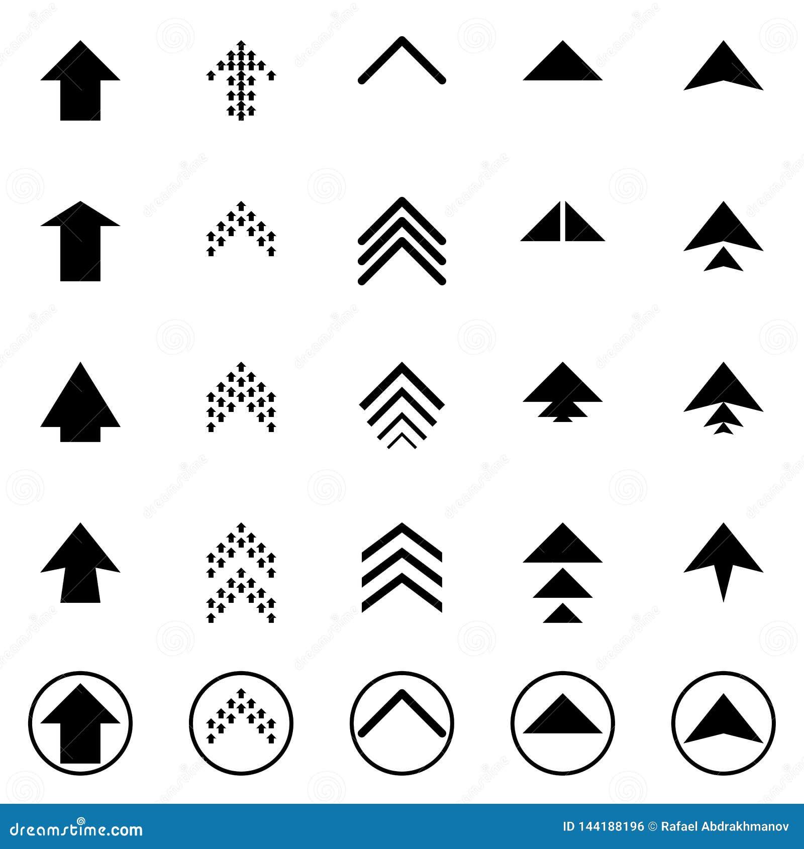 黑下个箭头设置了数字标志尖象商标标志按钮收藏 EPS 10现代平的简单的游标传染媒介