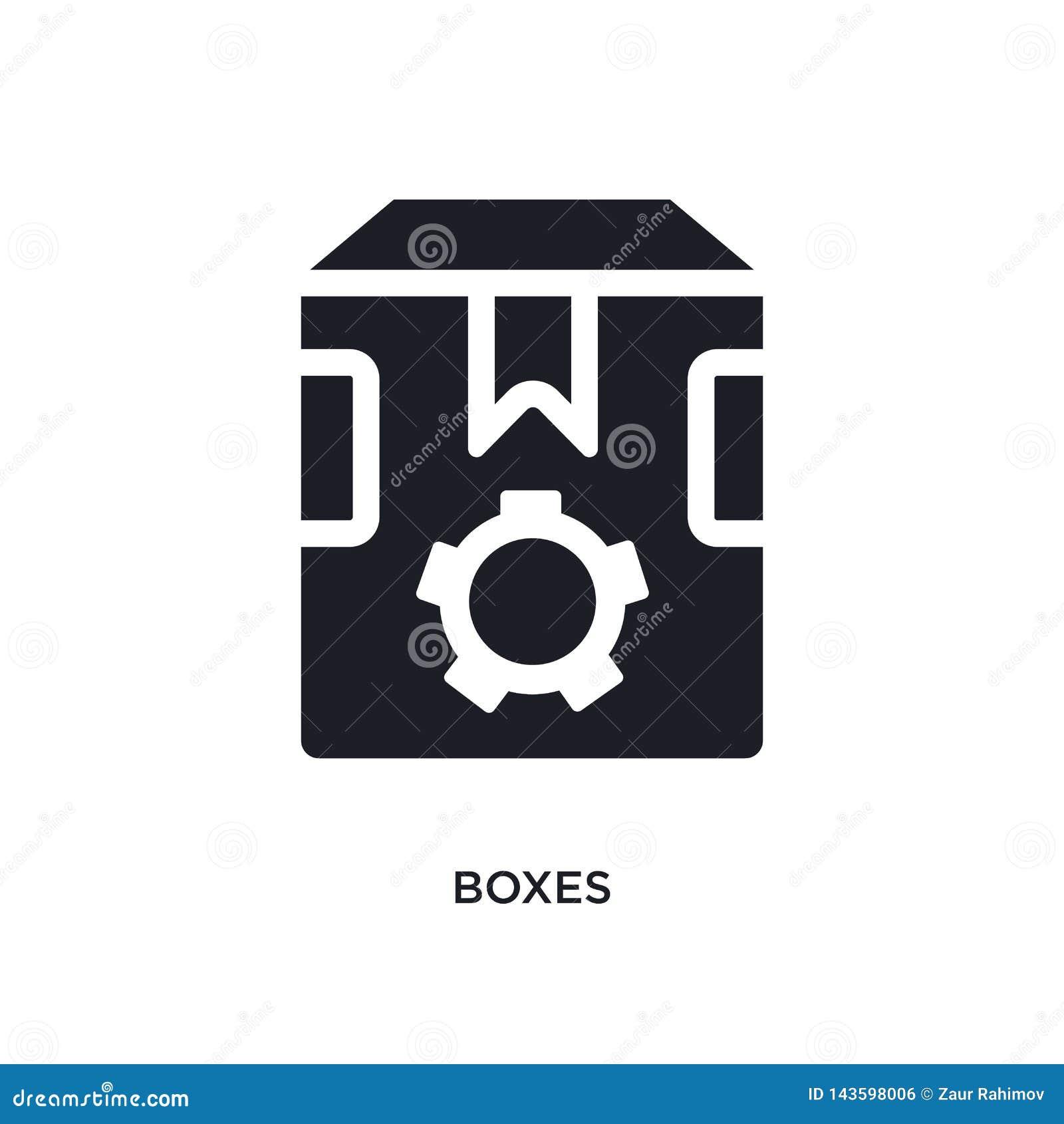 黑匣子被隔绝的传染媒介象 从产业概念传染媒介象的简单的元素例证 箱子编辑可能的商标标志
