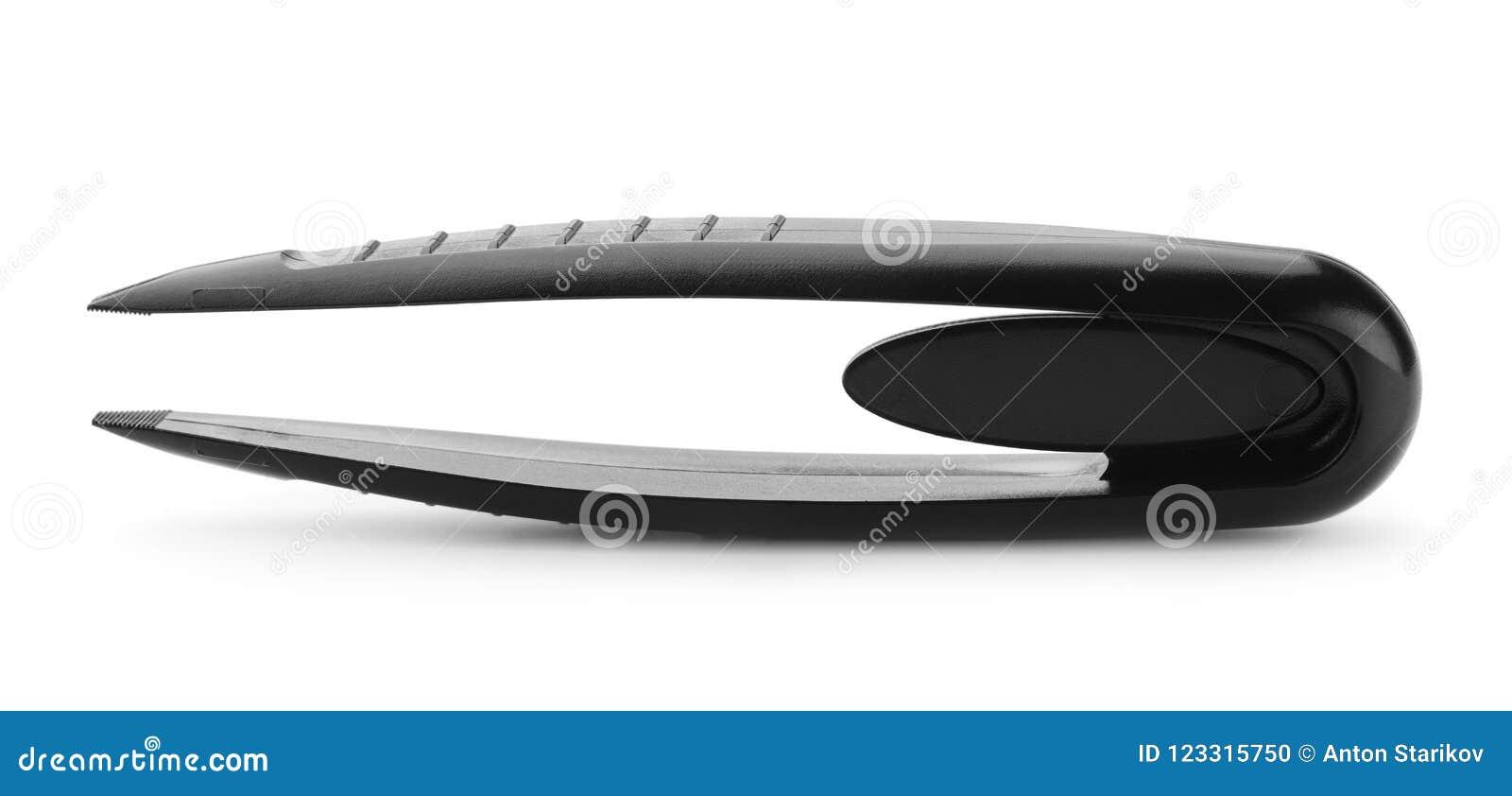 黑塑料镊子侧视图