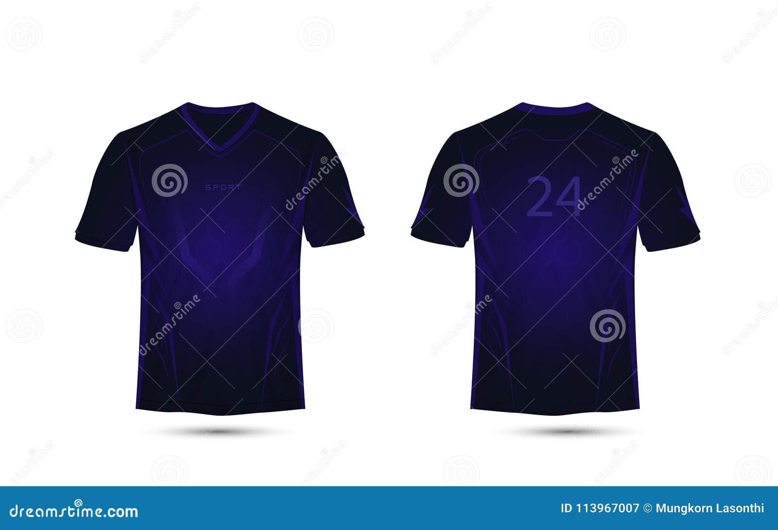 黑暗的紫色线布局 概念查出的技术白色 橄榄球体育T恤杉,成套工具,球衣,衬衣设计模板