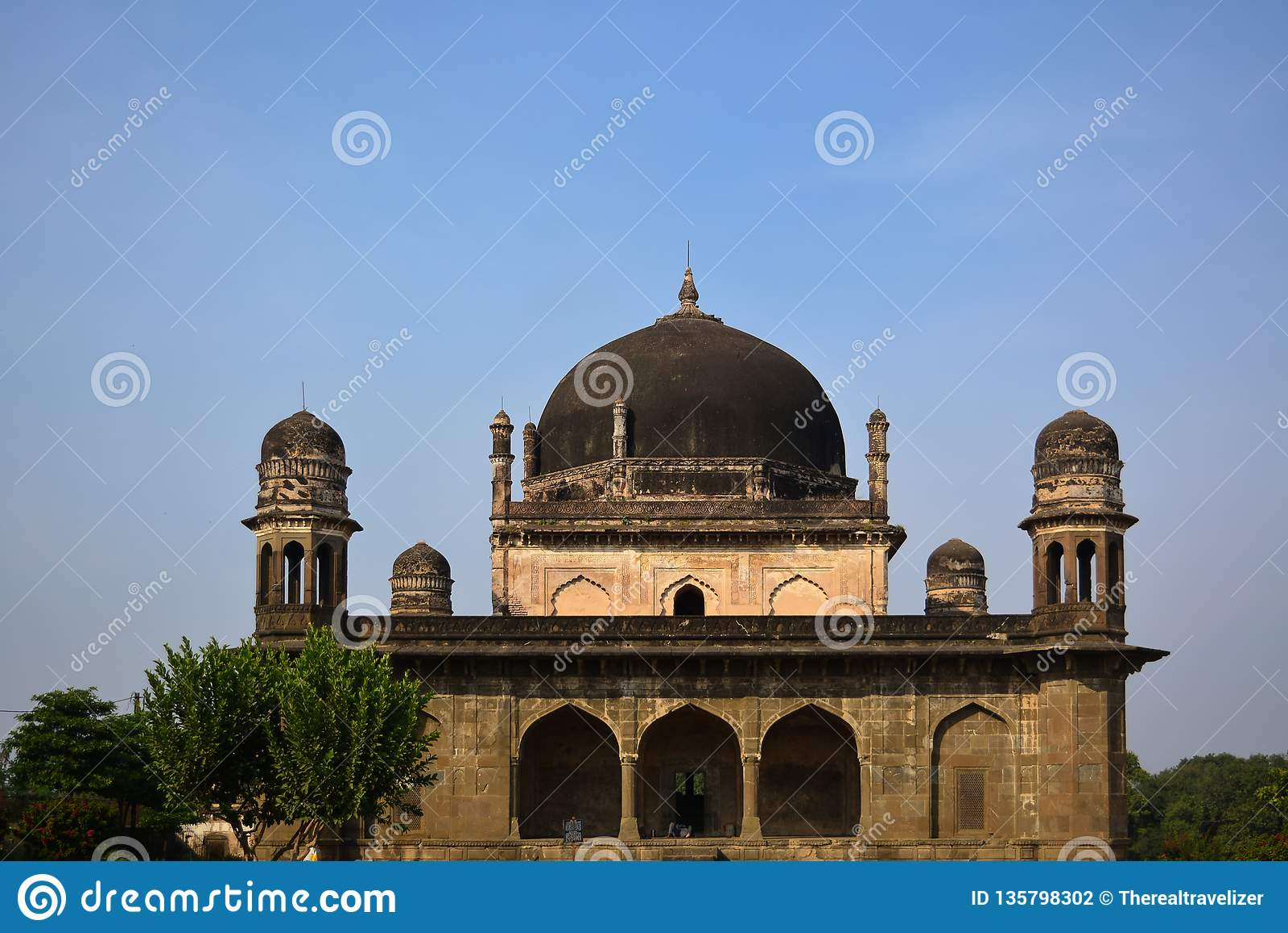 黑泰姬陵在布尔汉普尔,中央邦,印度