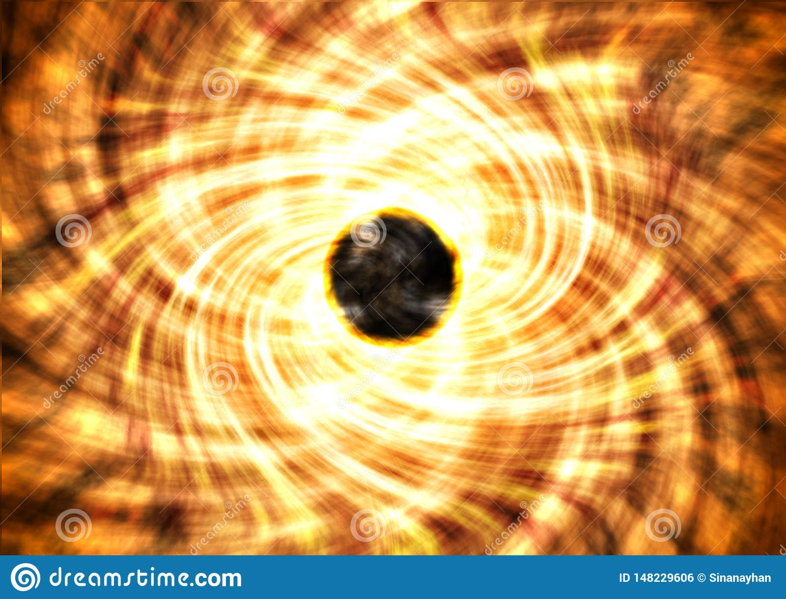 黑洞和它的readiation圈子