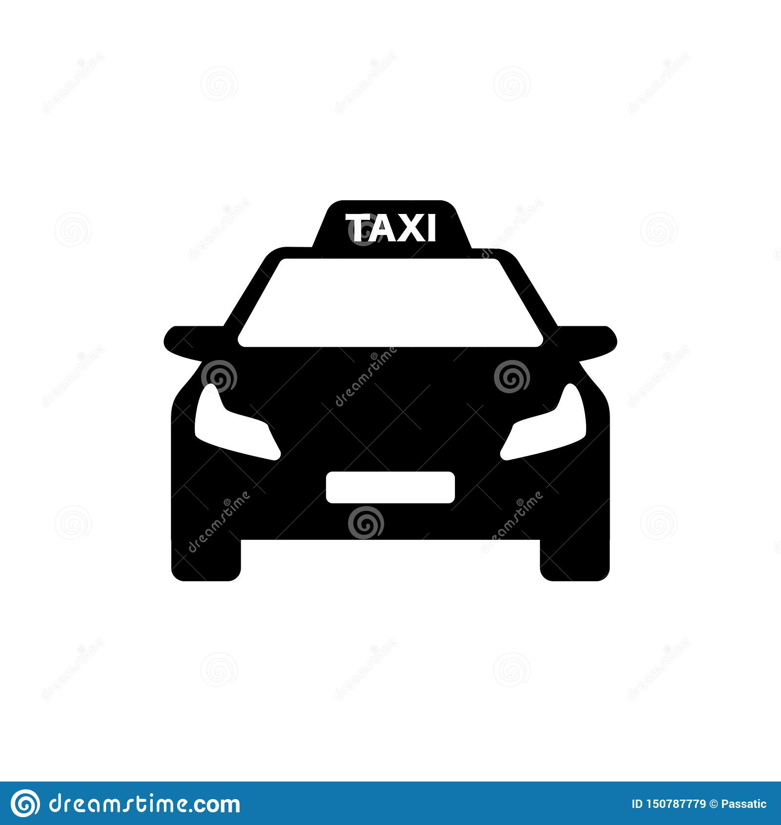 黑白出租汽车商标现代汽车