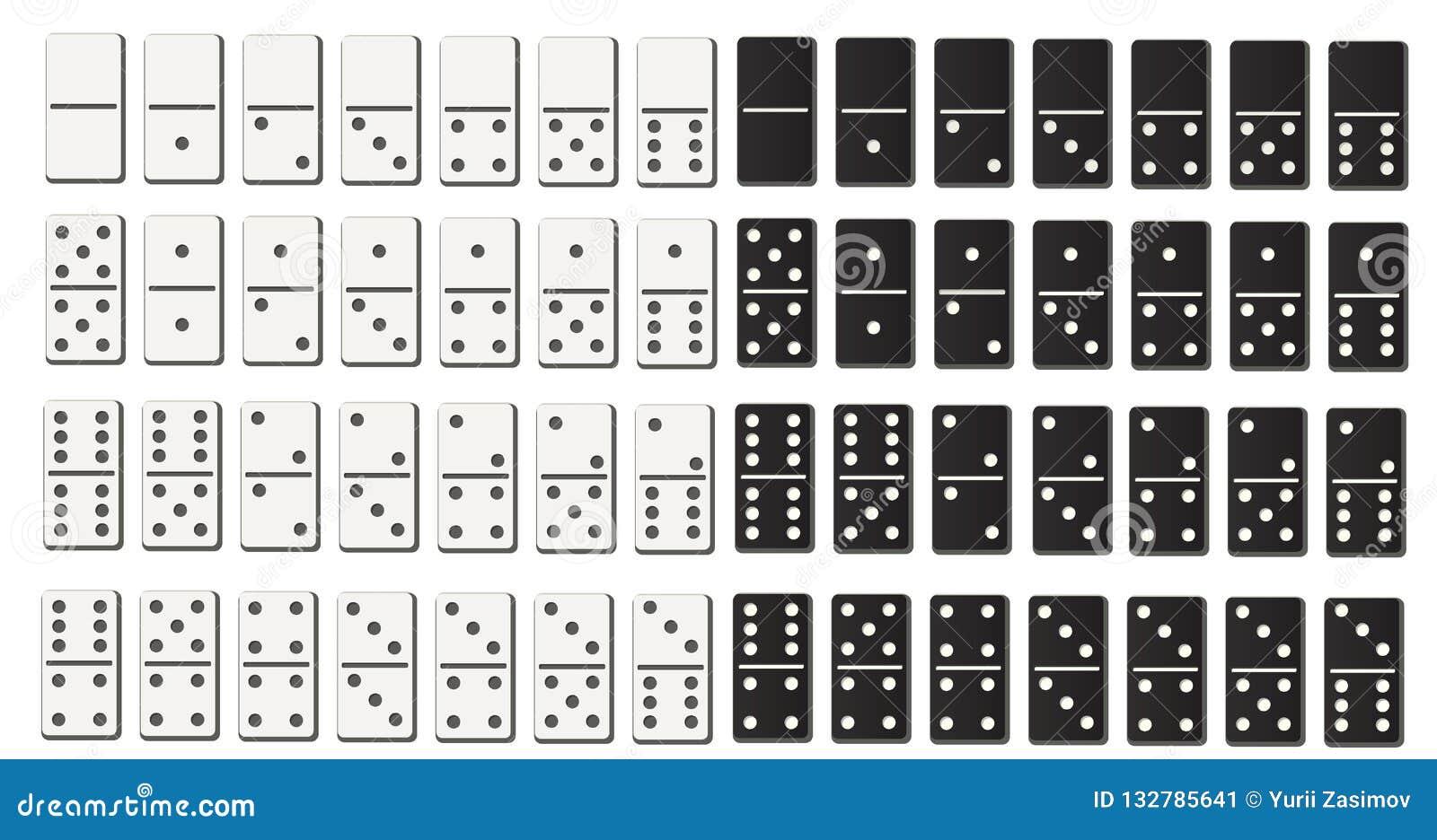 黑白在平的设计样式的多米诺全套