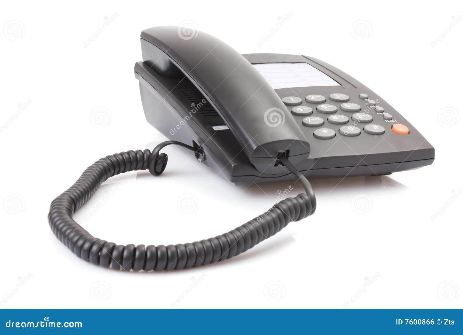 黑色办公室电话