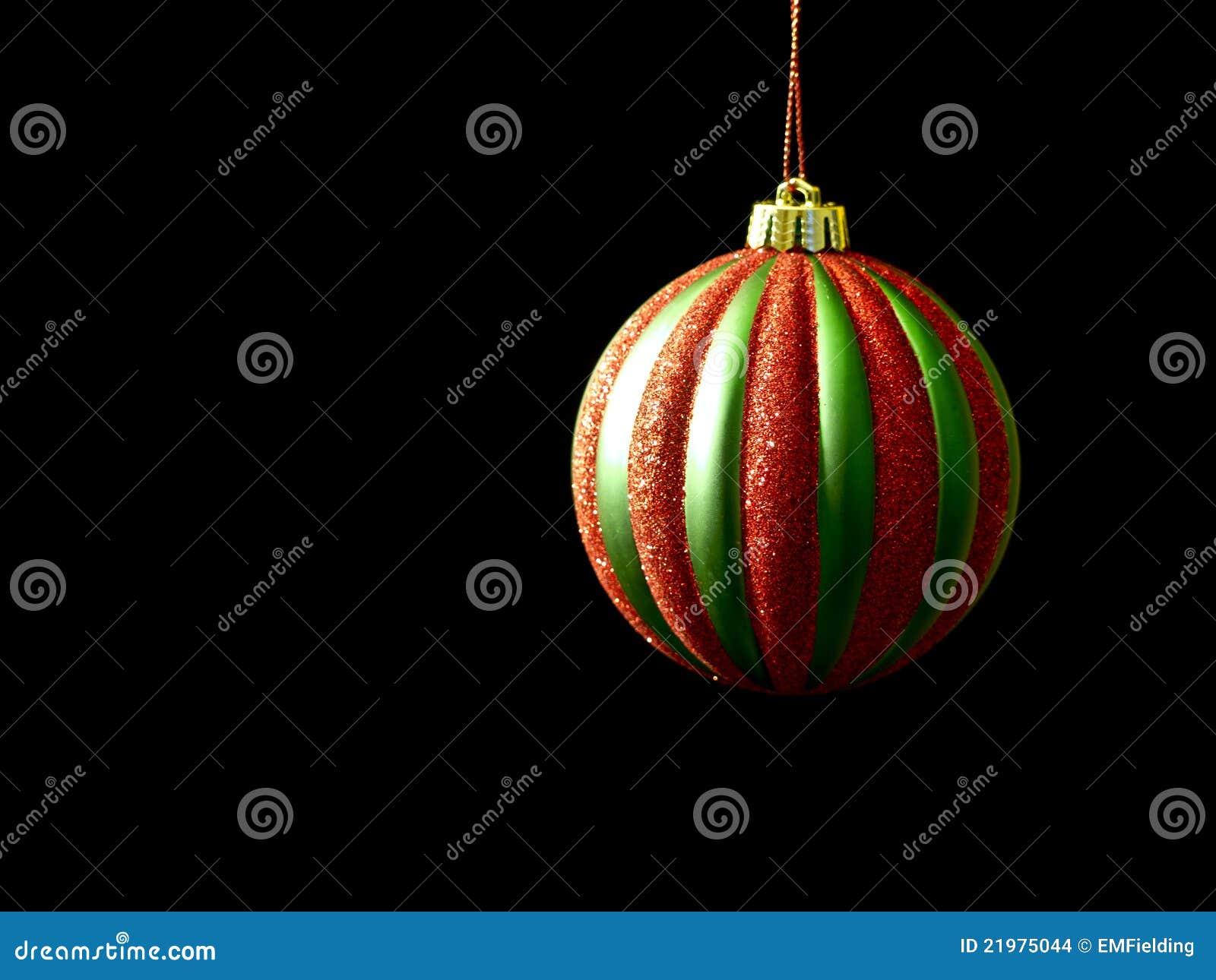 黑色圣诞节绿色装饰品红色