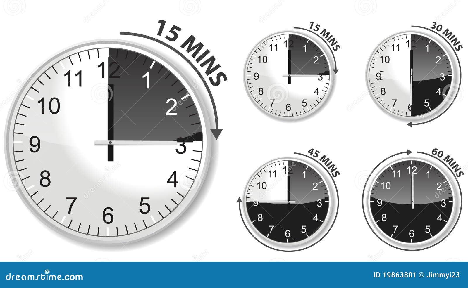 黑色定时器