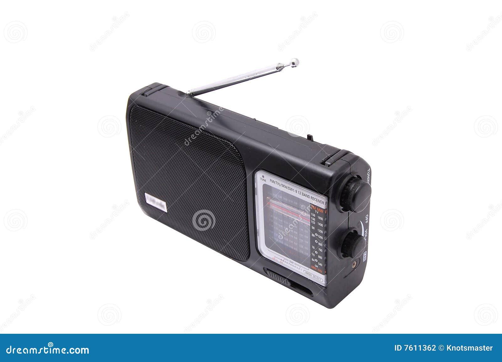 黑色无线电接收机