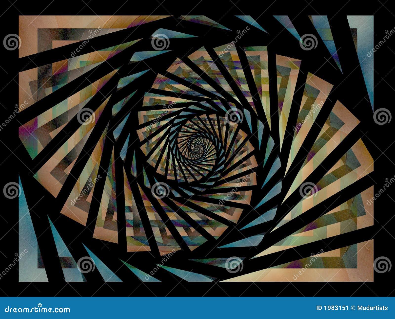 黑色蓝色金模式螺旋