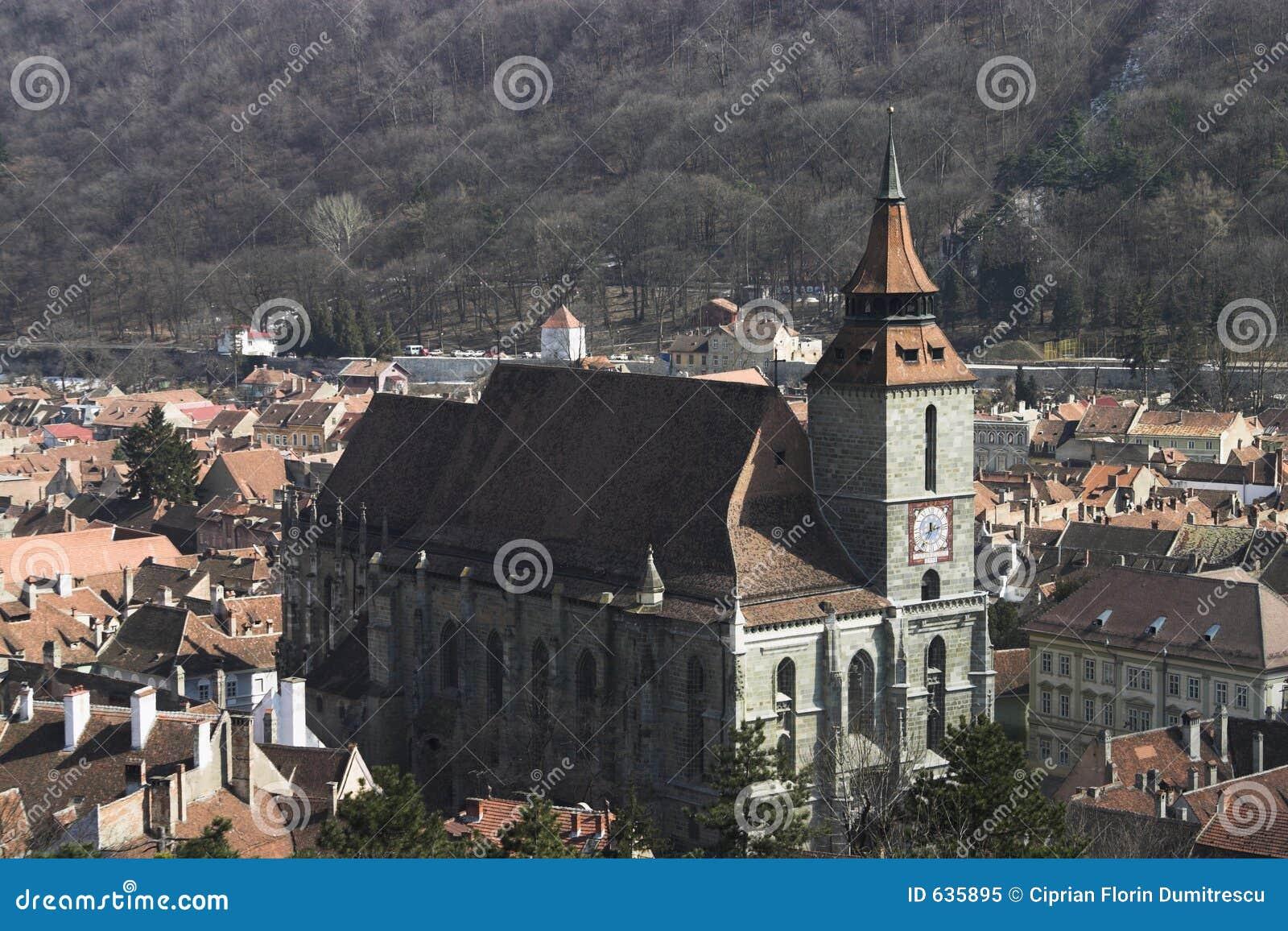 黑色brasov教会
