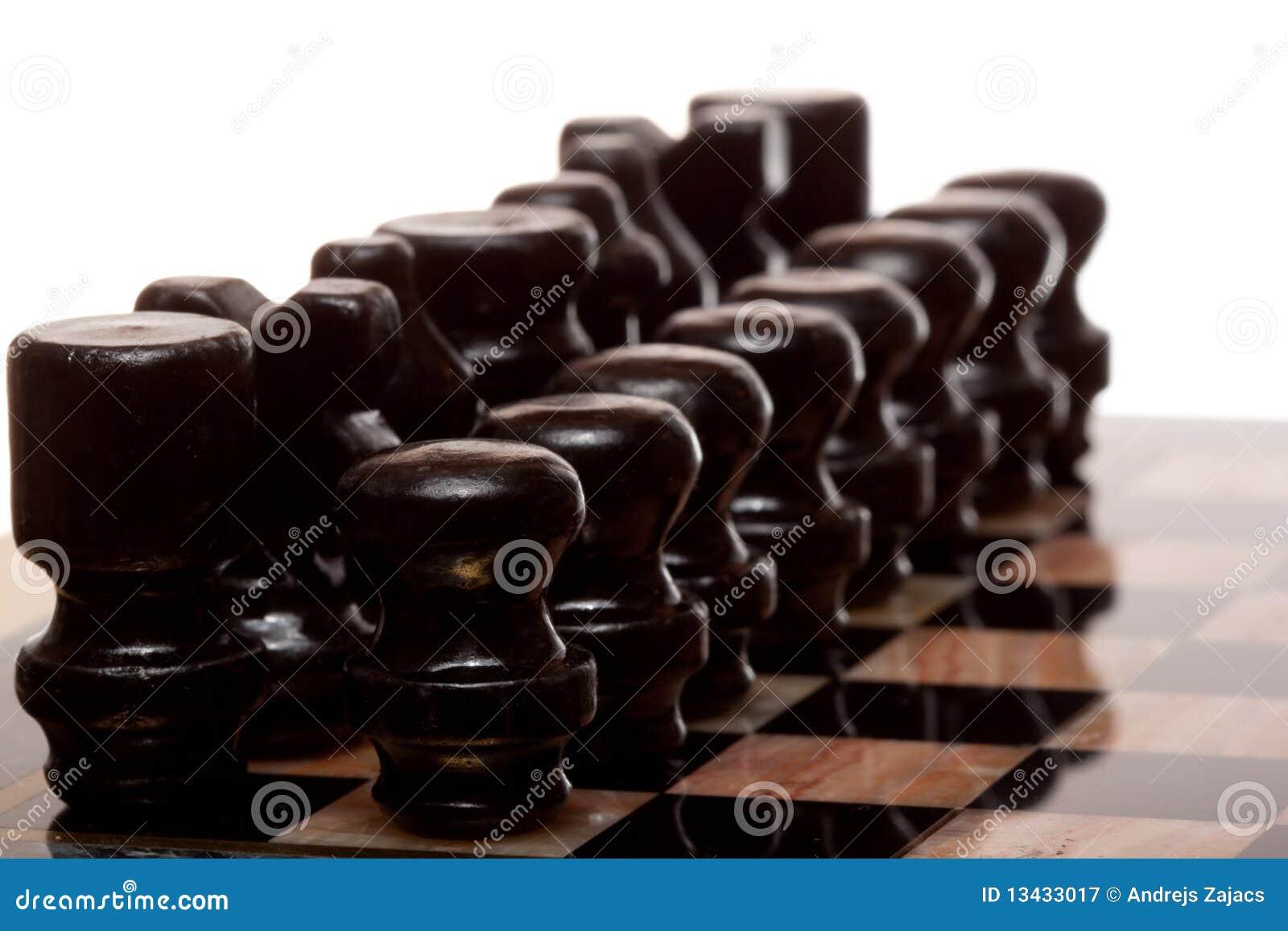 黑色chessmans