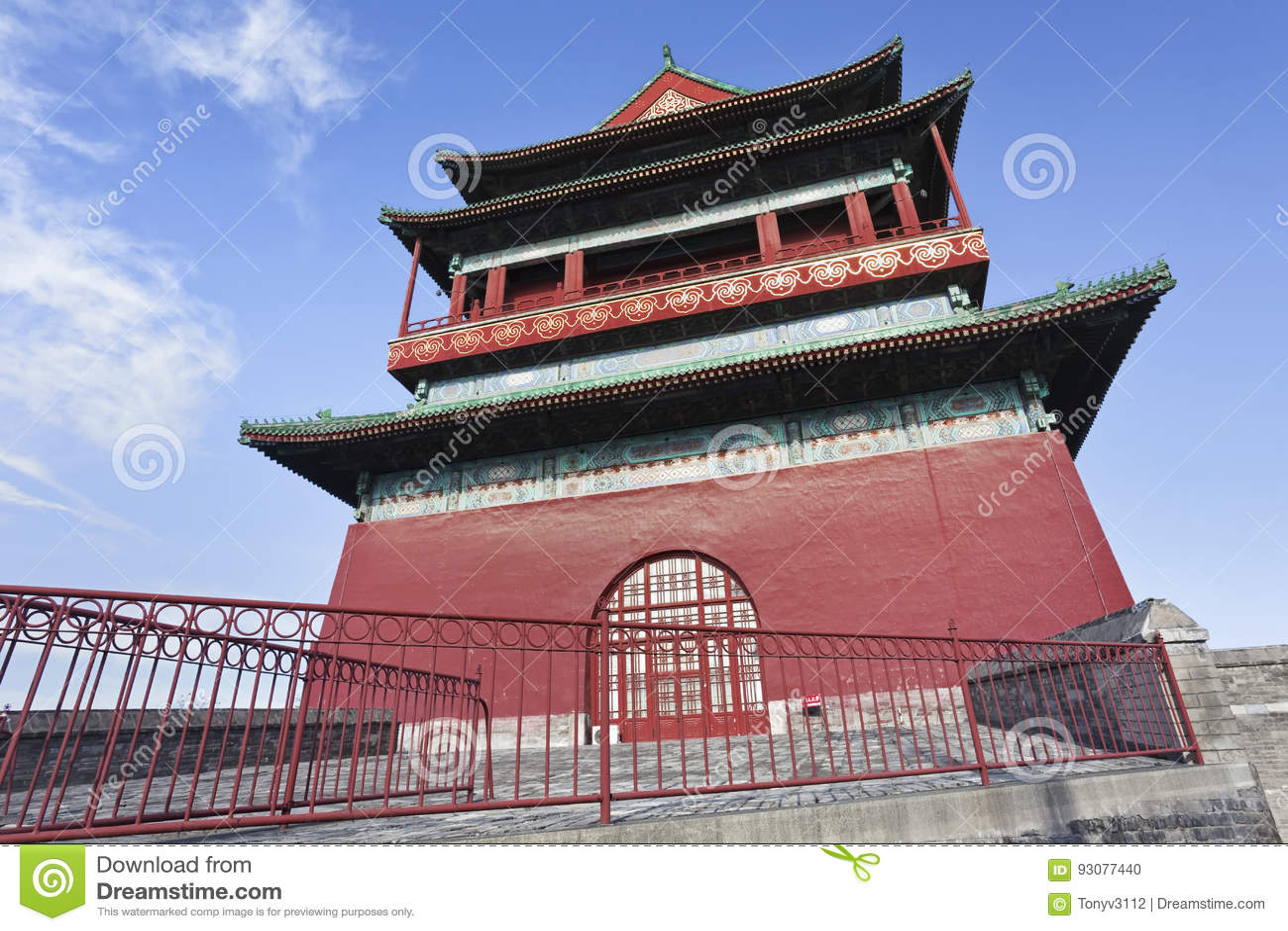 鼓塔在北京老镇