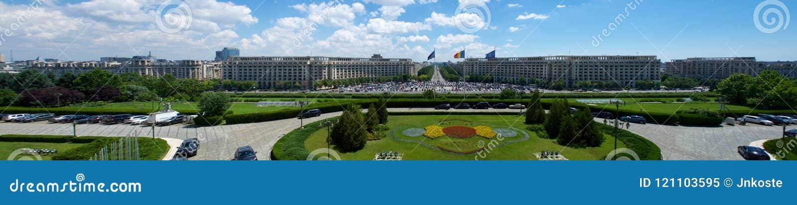 齐奥塞斯库宫殿观点的议会布加勒斯特罗马尼亚欧洲