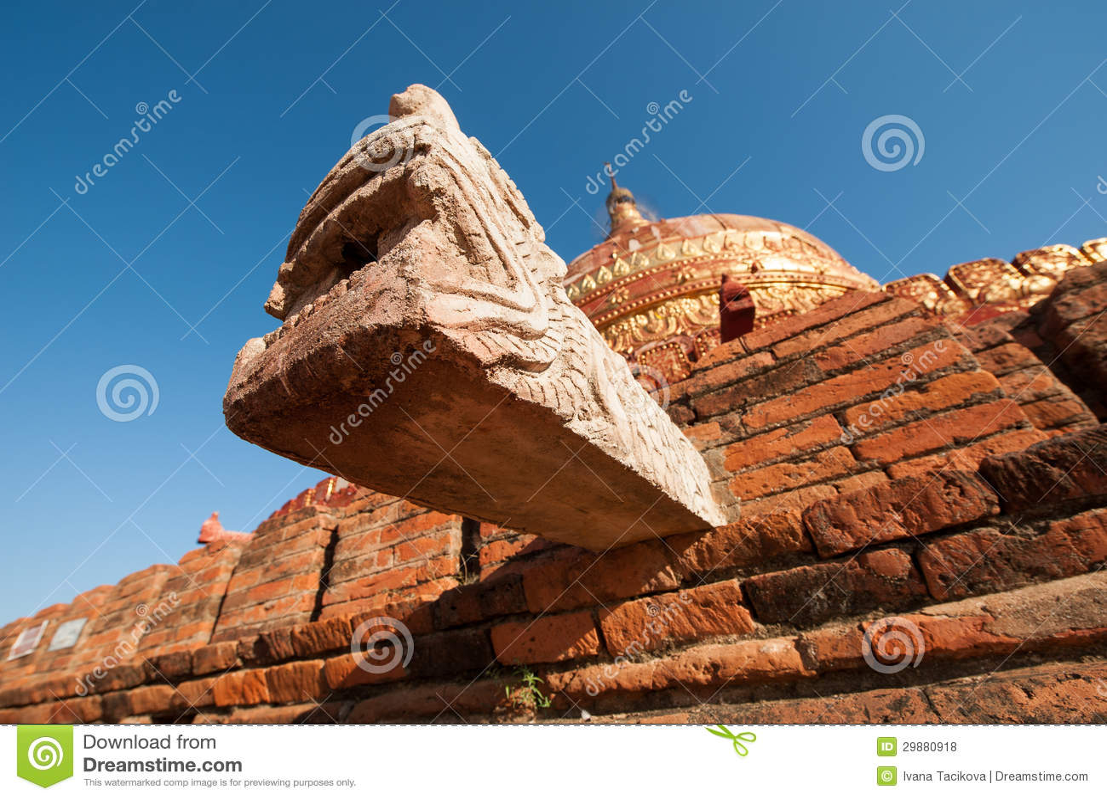 Damayzaka塔在Bagan,缅甸