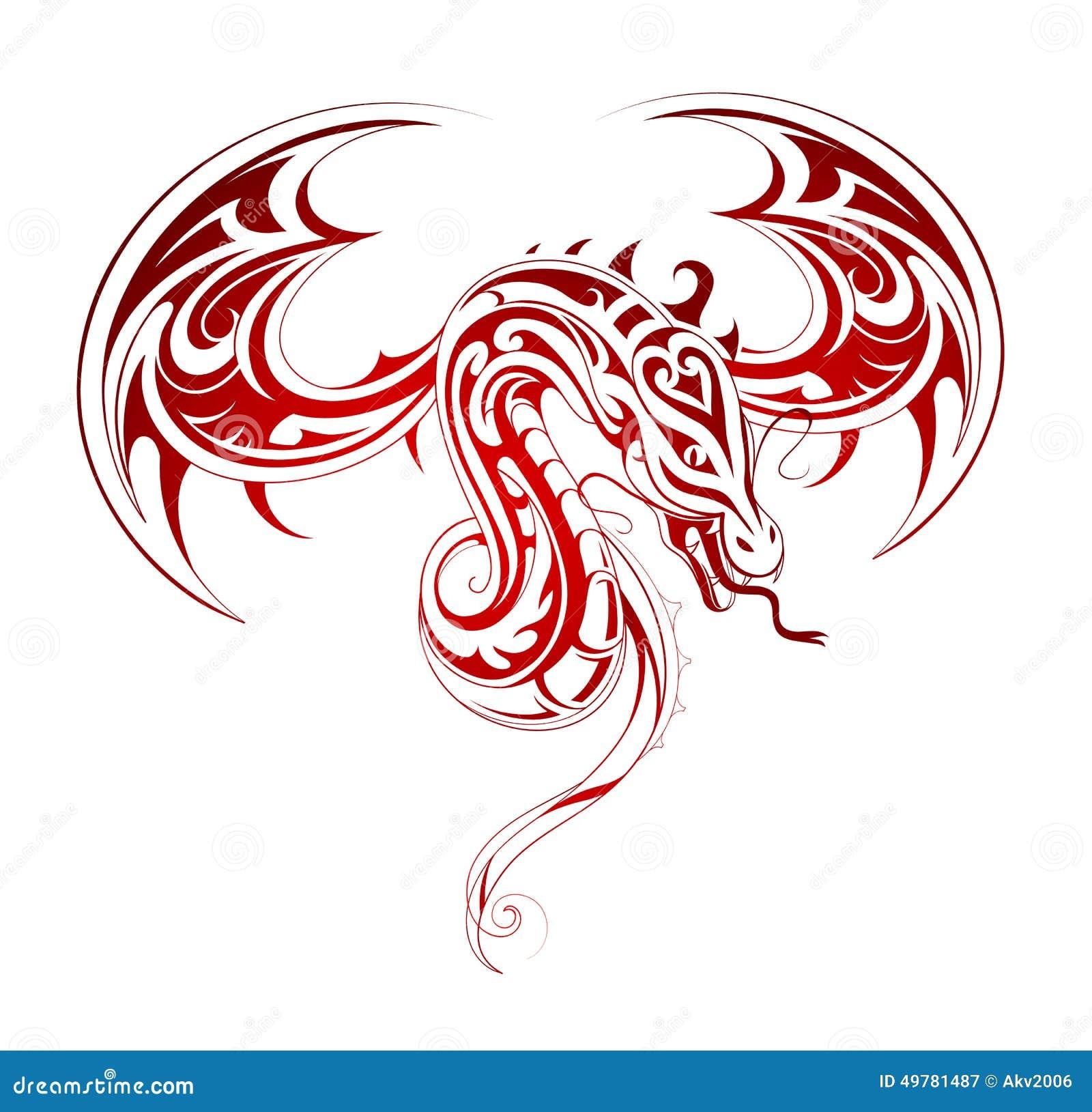 龙纹身花刺热媒设计院图片