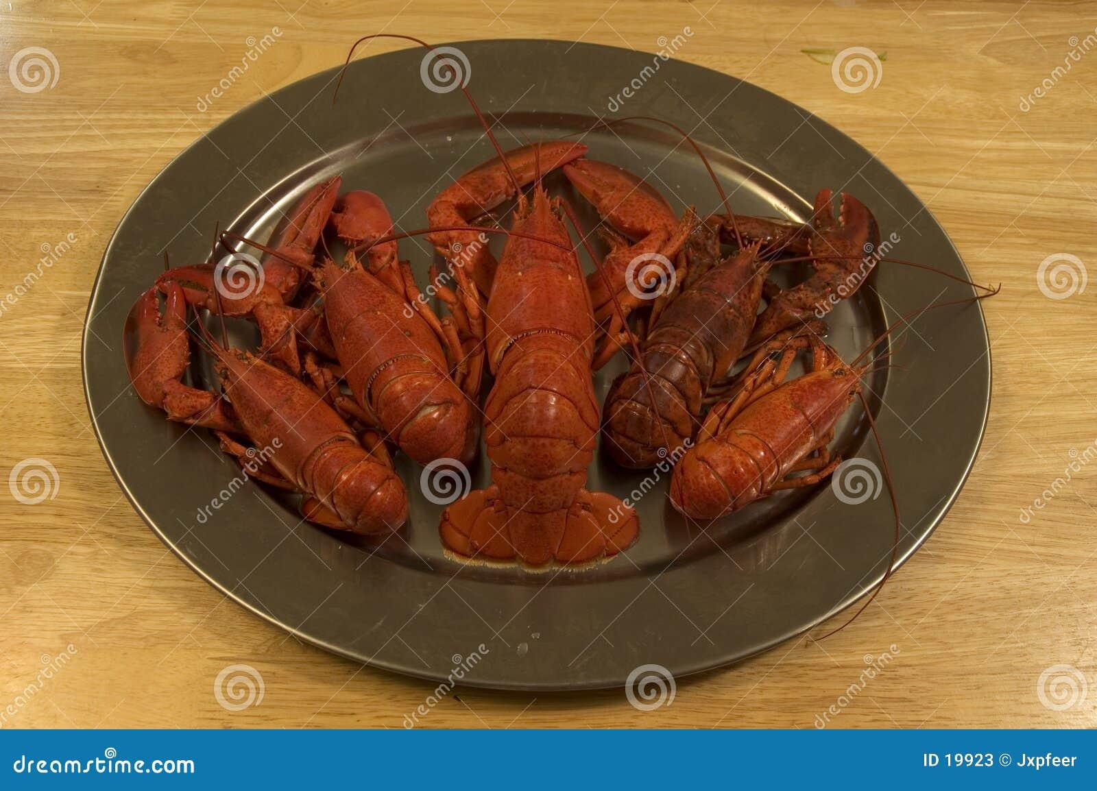 龙虾盛肉盘