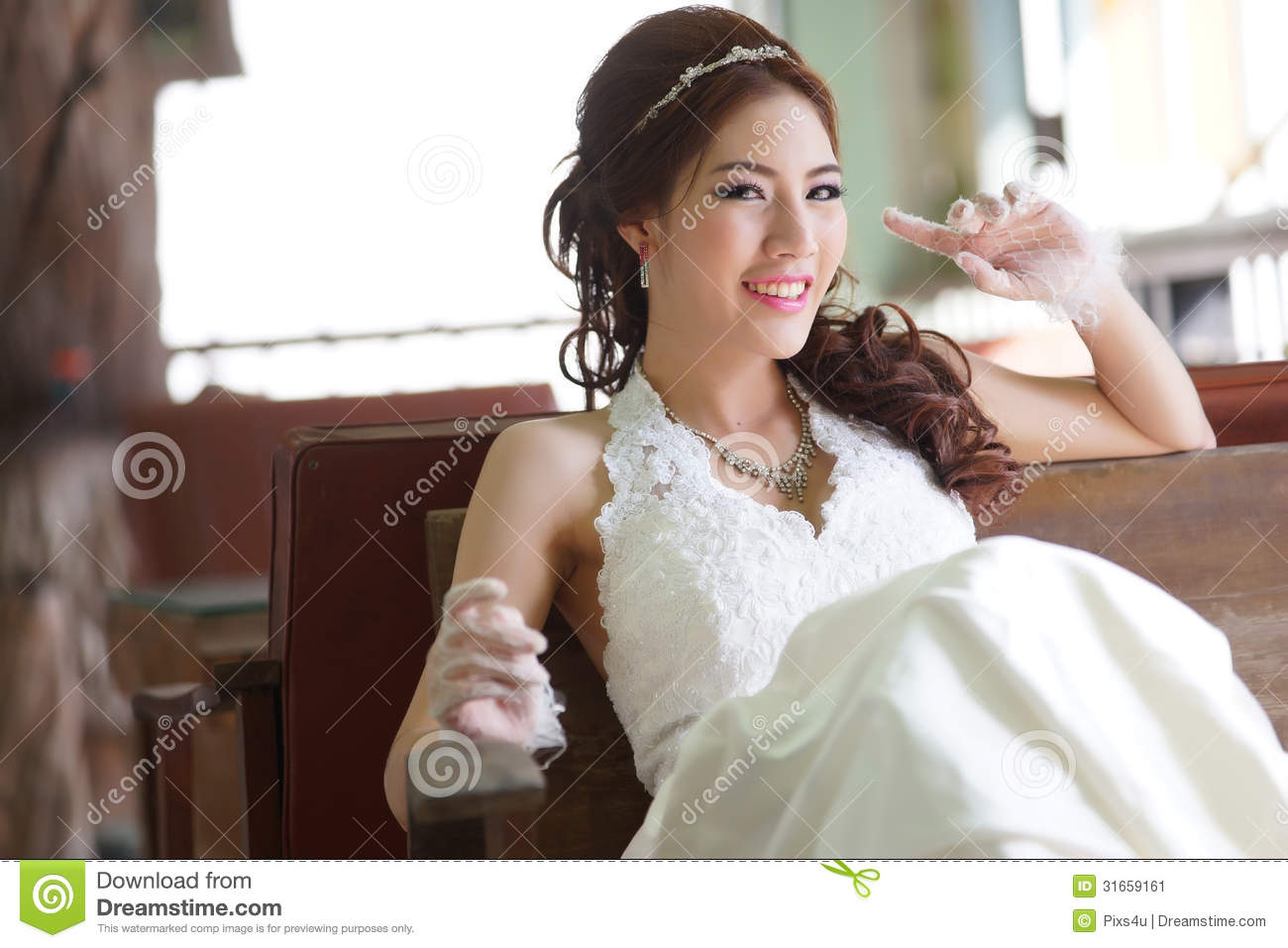 Asian Lady Bride In 10