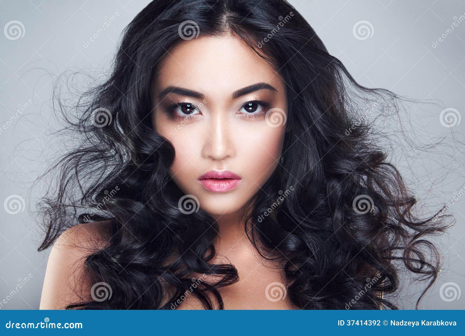 Asian Woman Black Hair 41