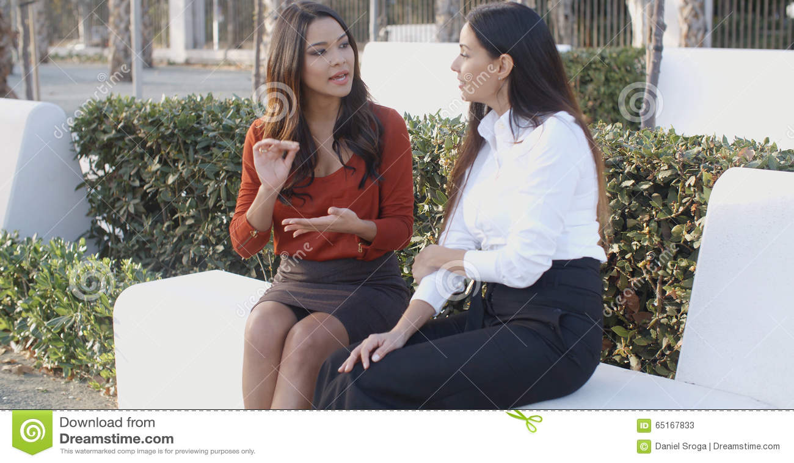 Asian Woman Explaining 25