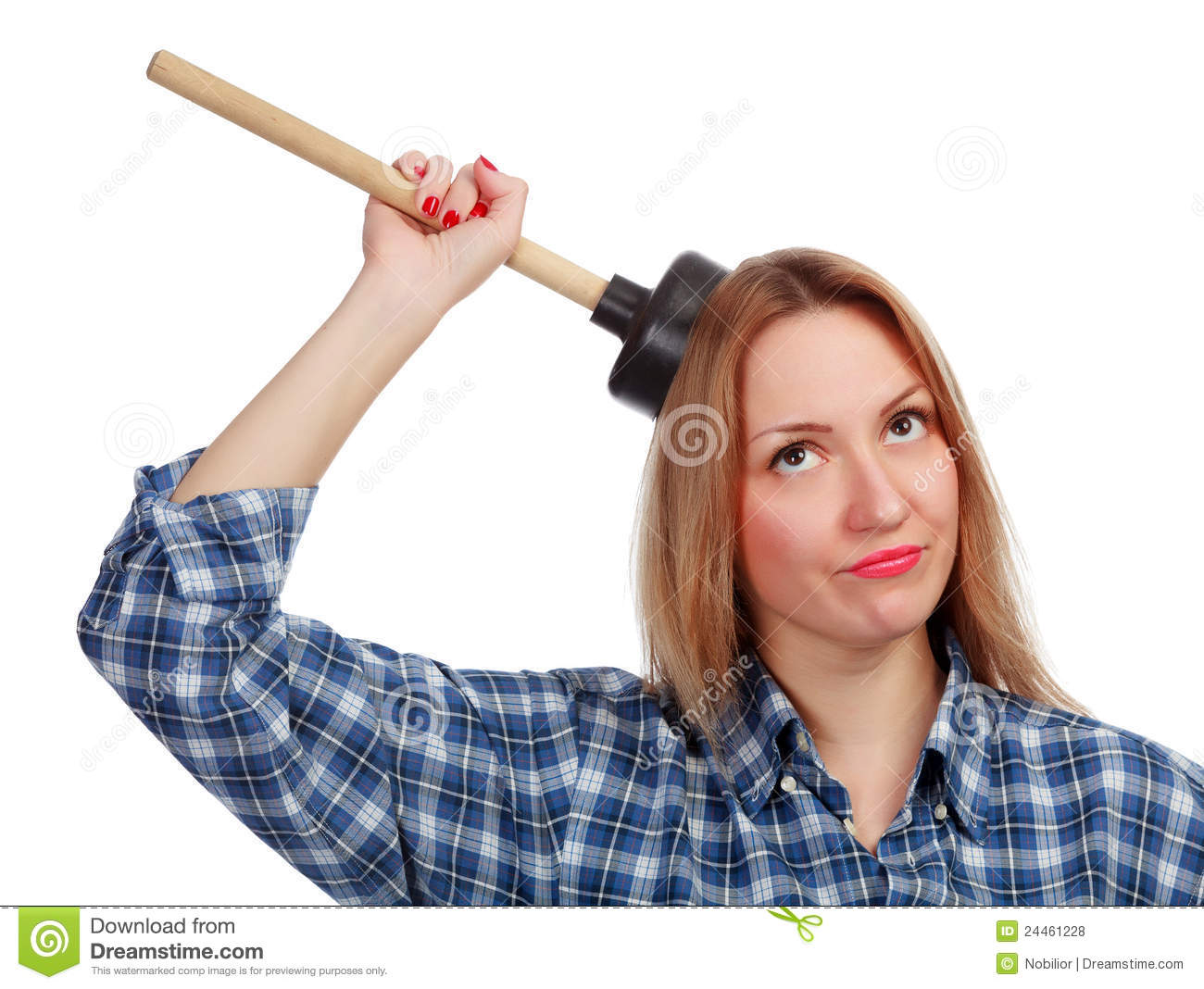 Woman With A Plunger 82