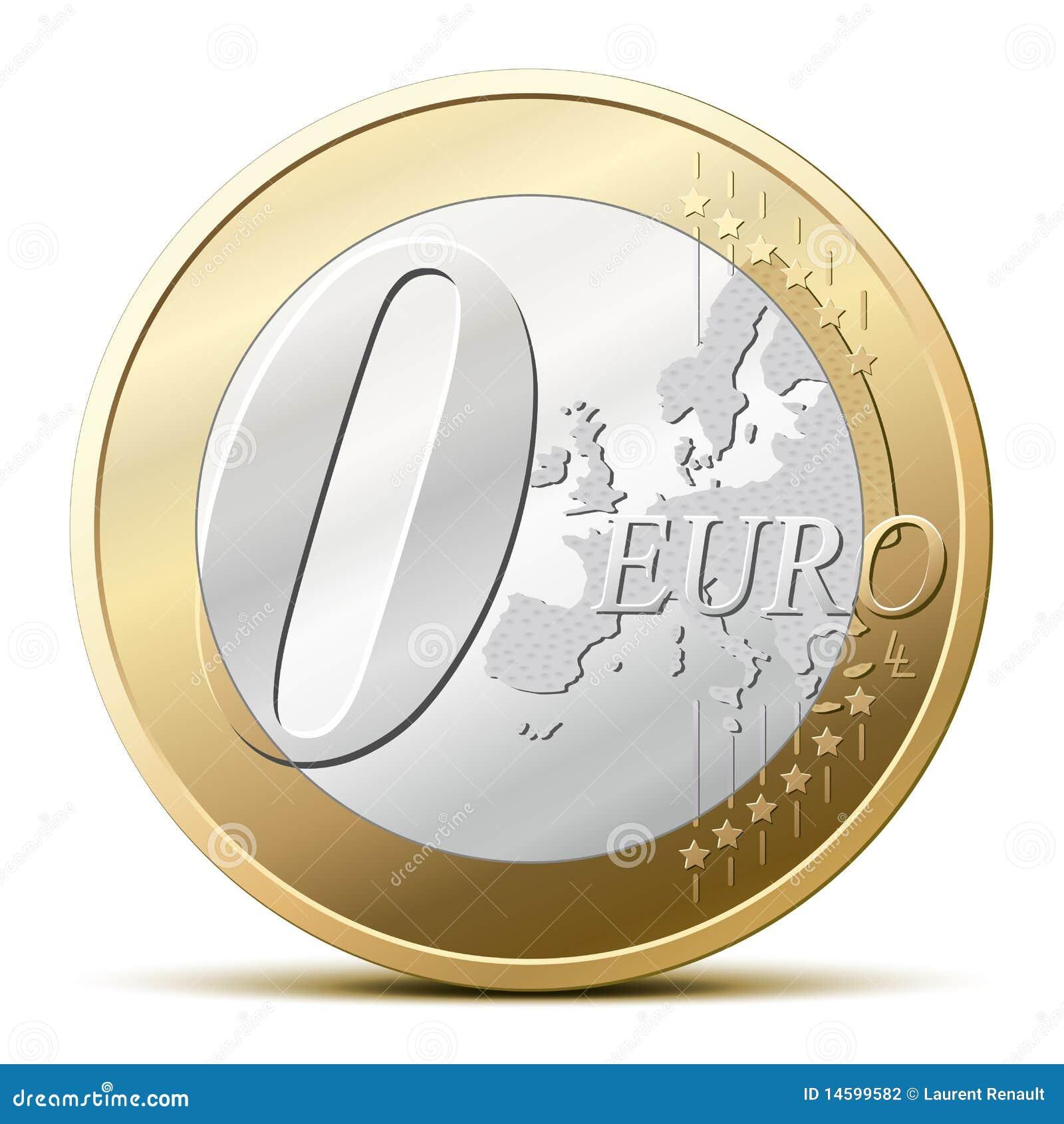 0 euro monete fotografia stock immagine 14599582 - Sol en piece de monnaie ...