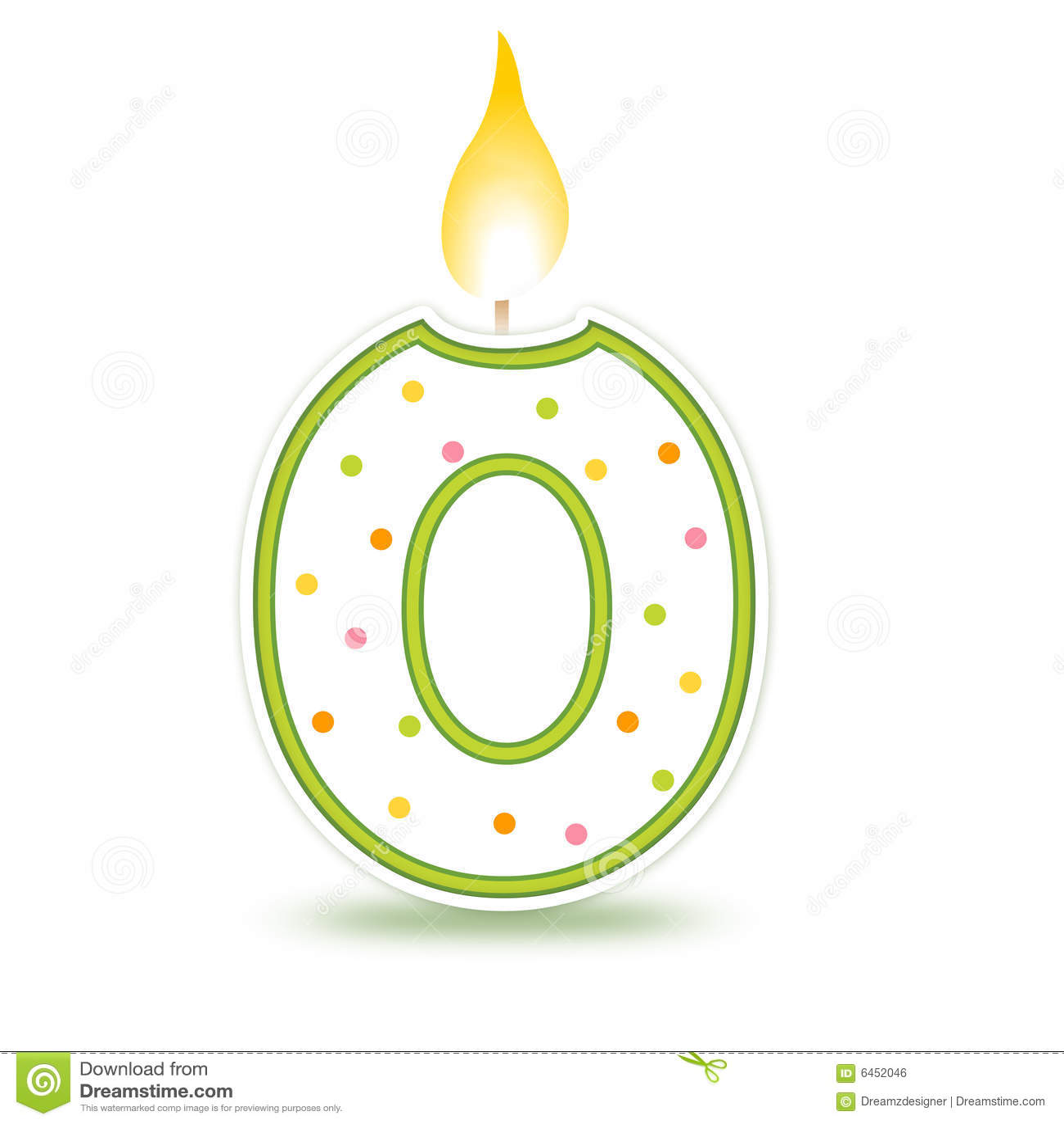 0 födelsedagstearinljus