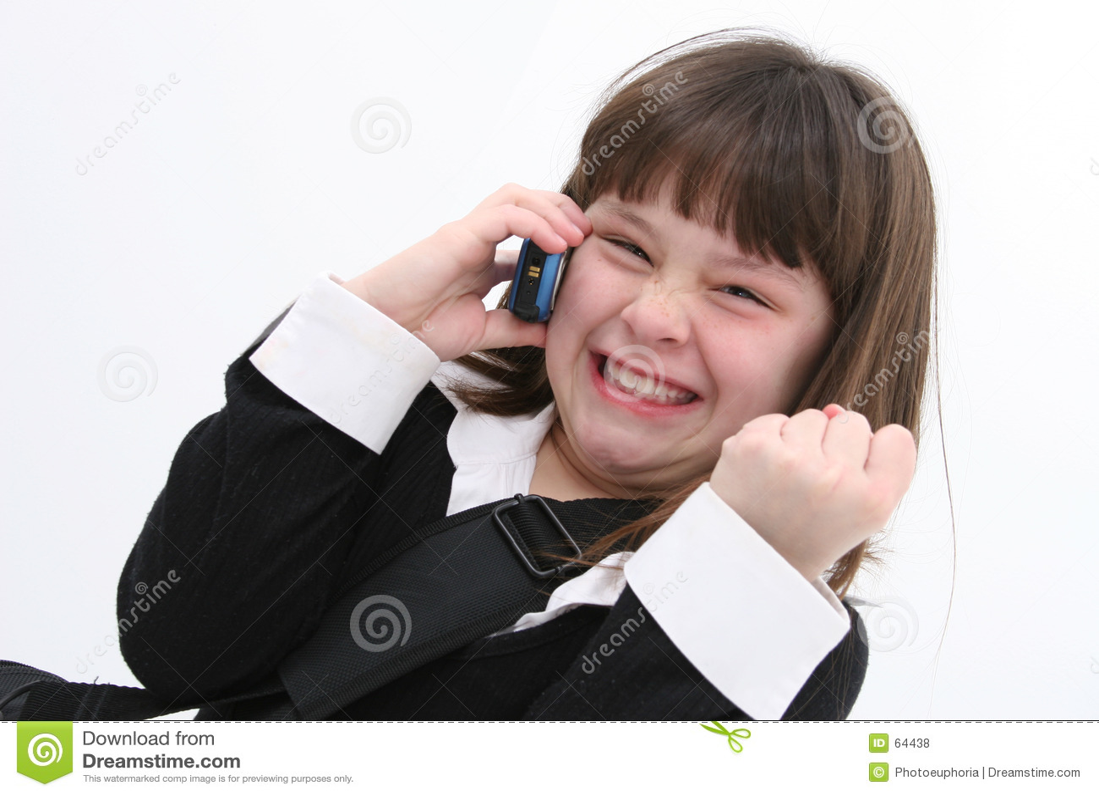01个移动电话儿童女孩