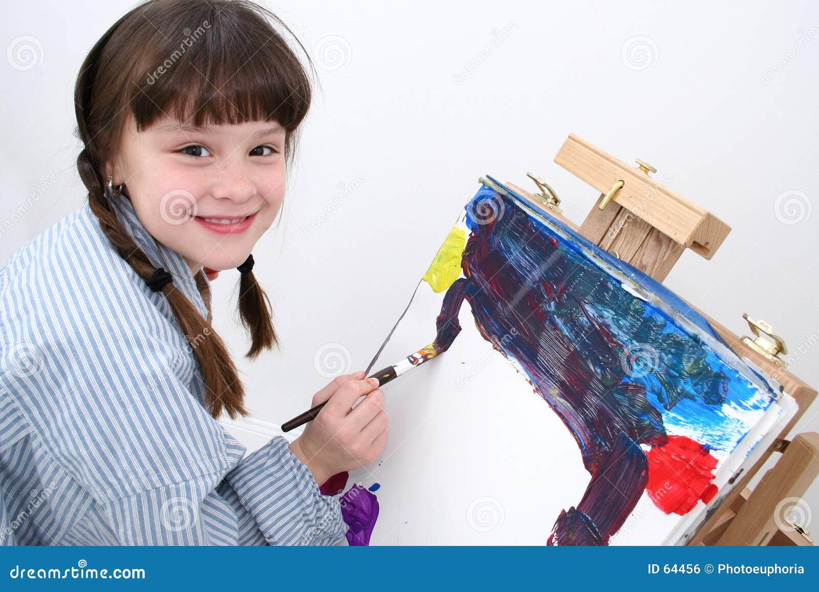 02个女孩绘画