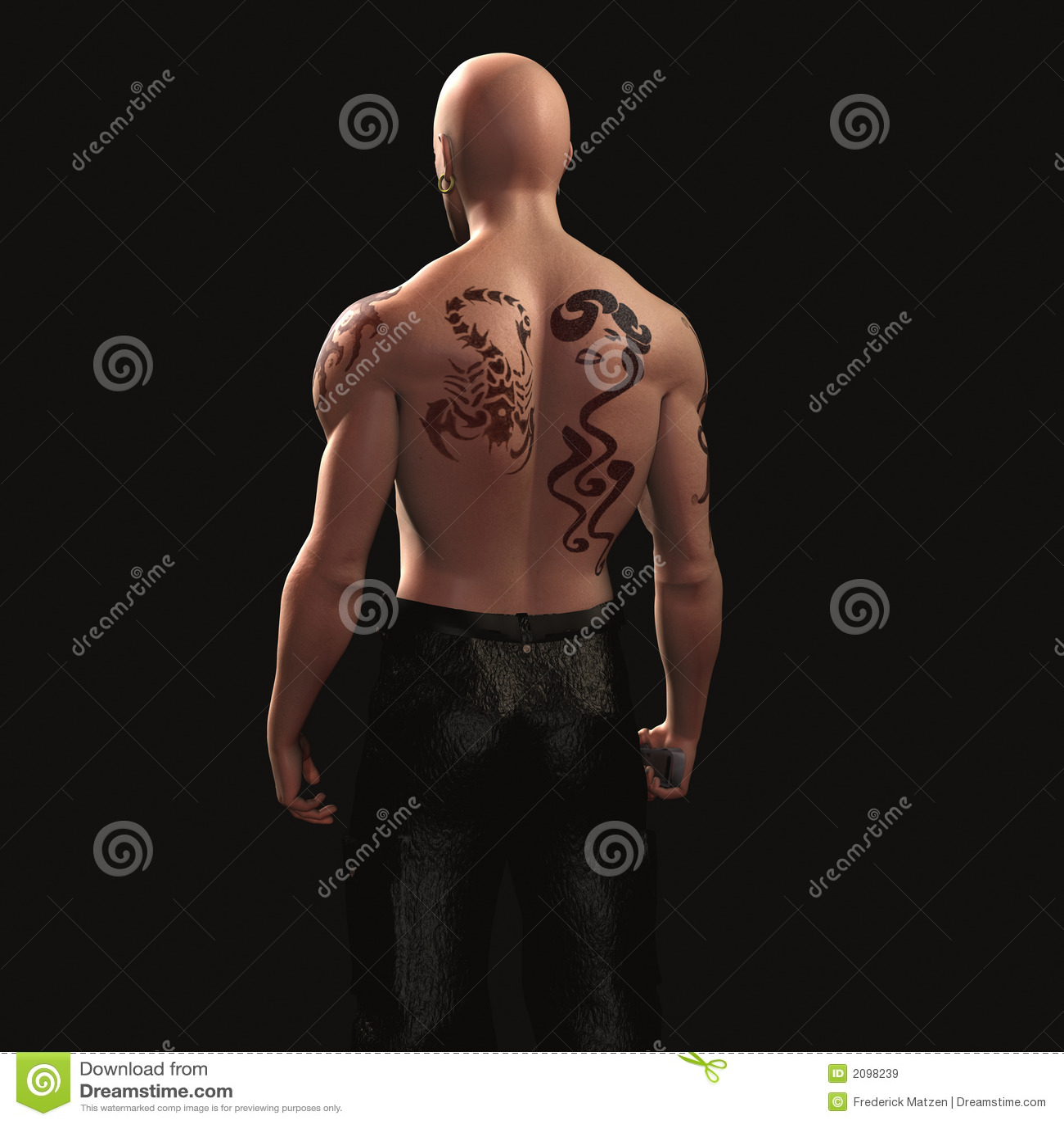 02b Tatuaż Blasku Faceta Ilustracji Ilustracja Złożonej Z